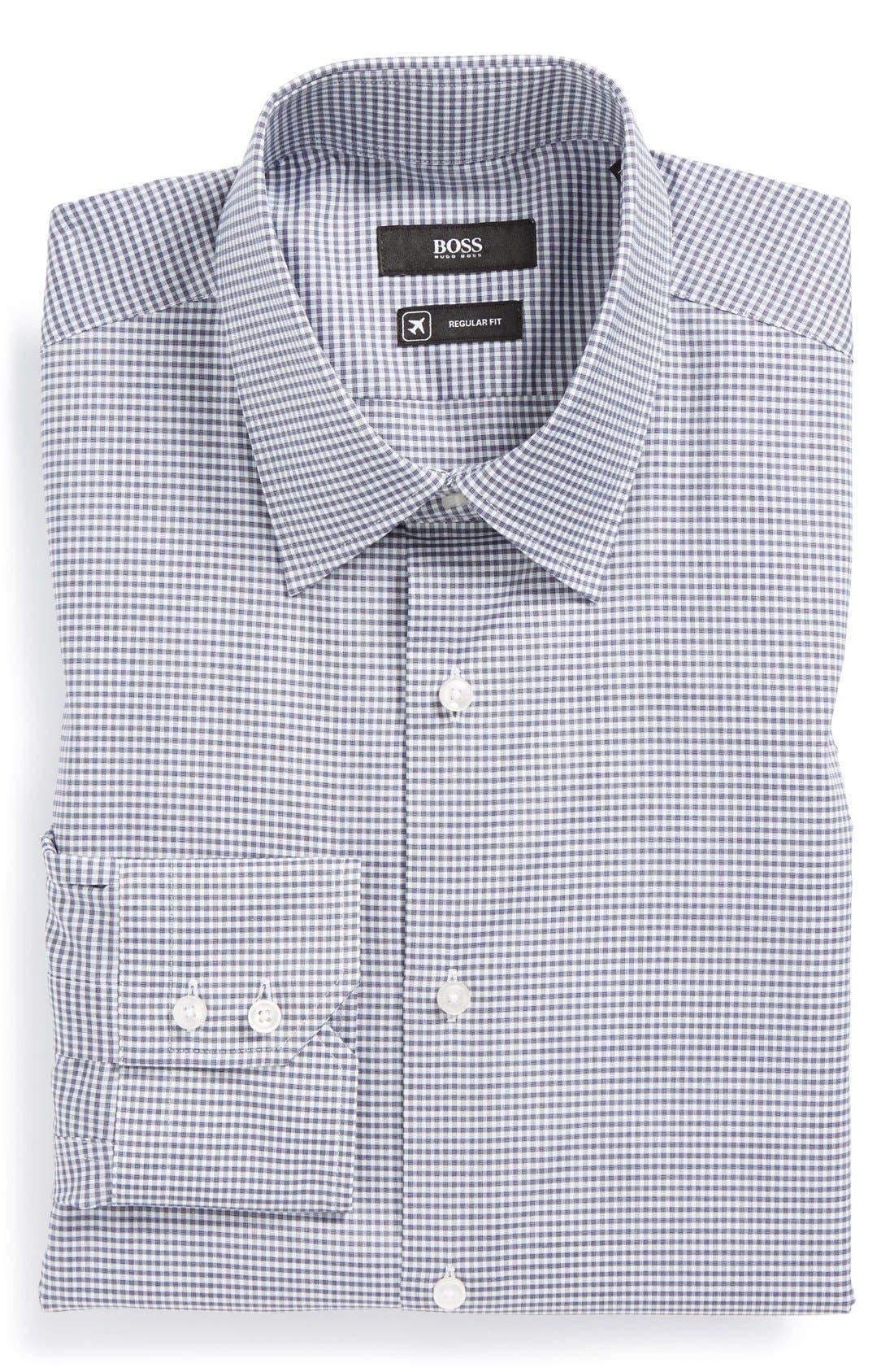 Alternate Image 1 Selected - BOSS HUGO BOSS 'Enzo WW' Regular Fit Travel Dress Shirt