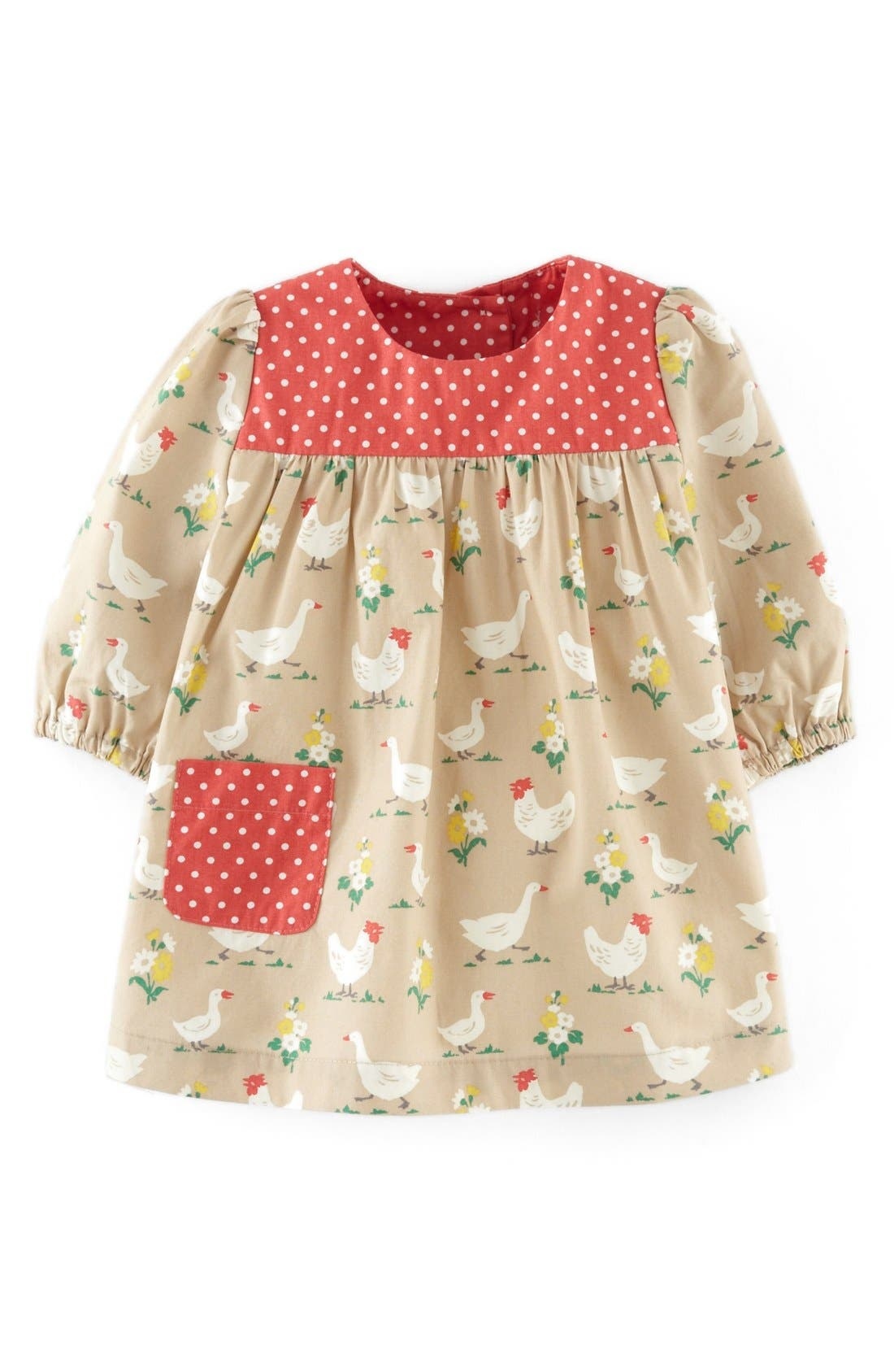 Alternate Image 1 Selected - Mini Boden Hotchpotch Dress (Baby Girls)