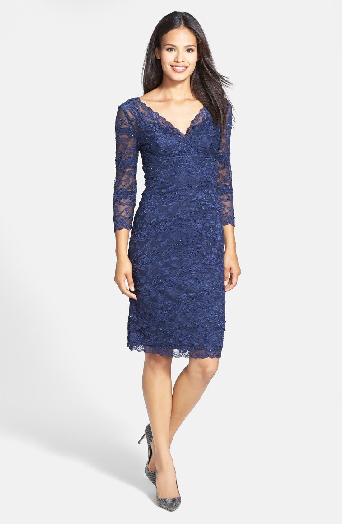 Alternate Image 3  - Marina Tiered Lace Dress