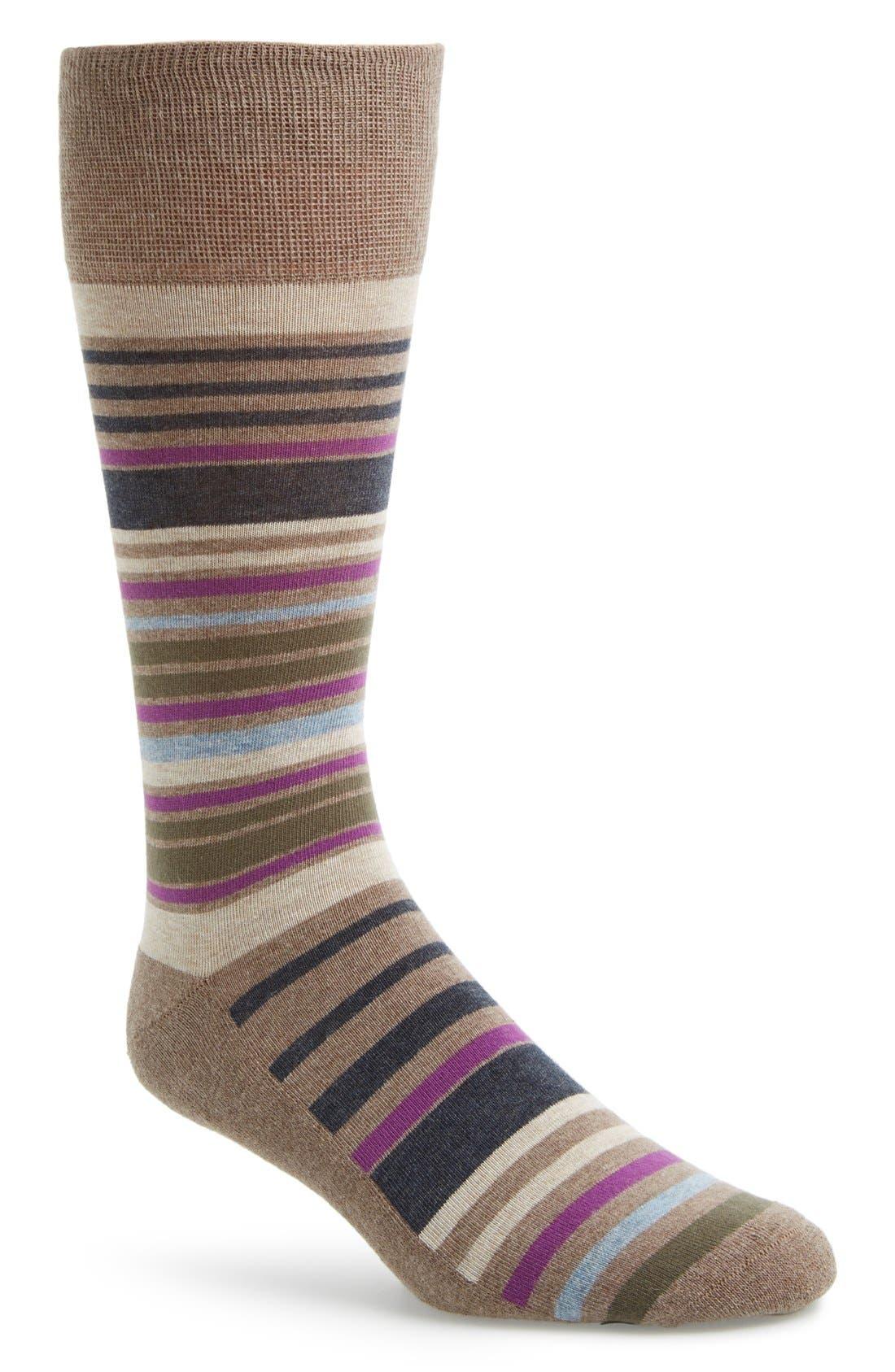 Alternate Image 1 Selected - Nordstrom Cushioned Stripe Socks