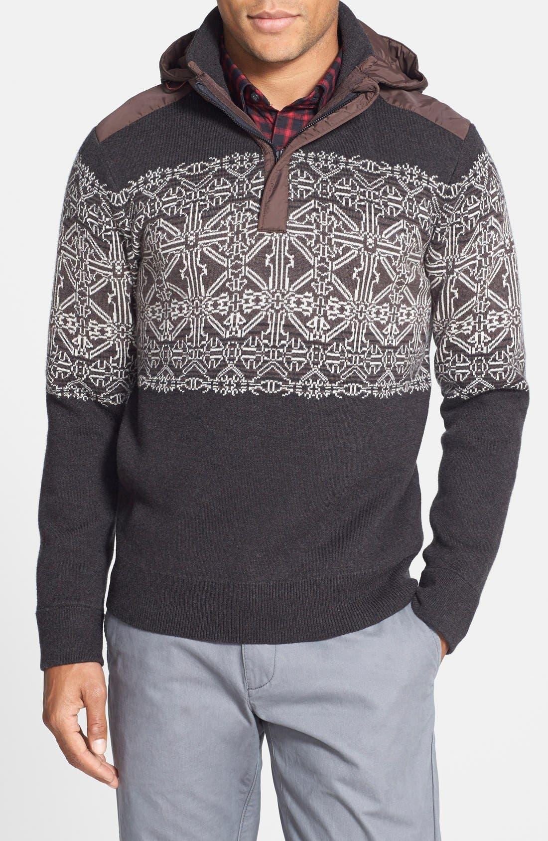 Victorinox Swiss Army® 'Fair Isle' Tailored Fit Half Zip Sweater ...