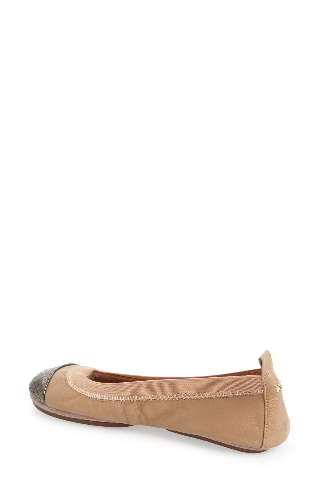 Alternate Image 2  - Yosi Samra 'Samantha' Foldable Ballet Flat (Women)