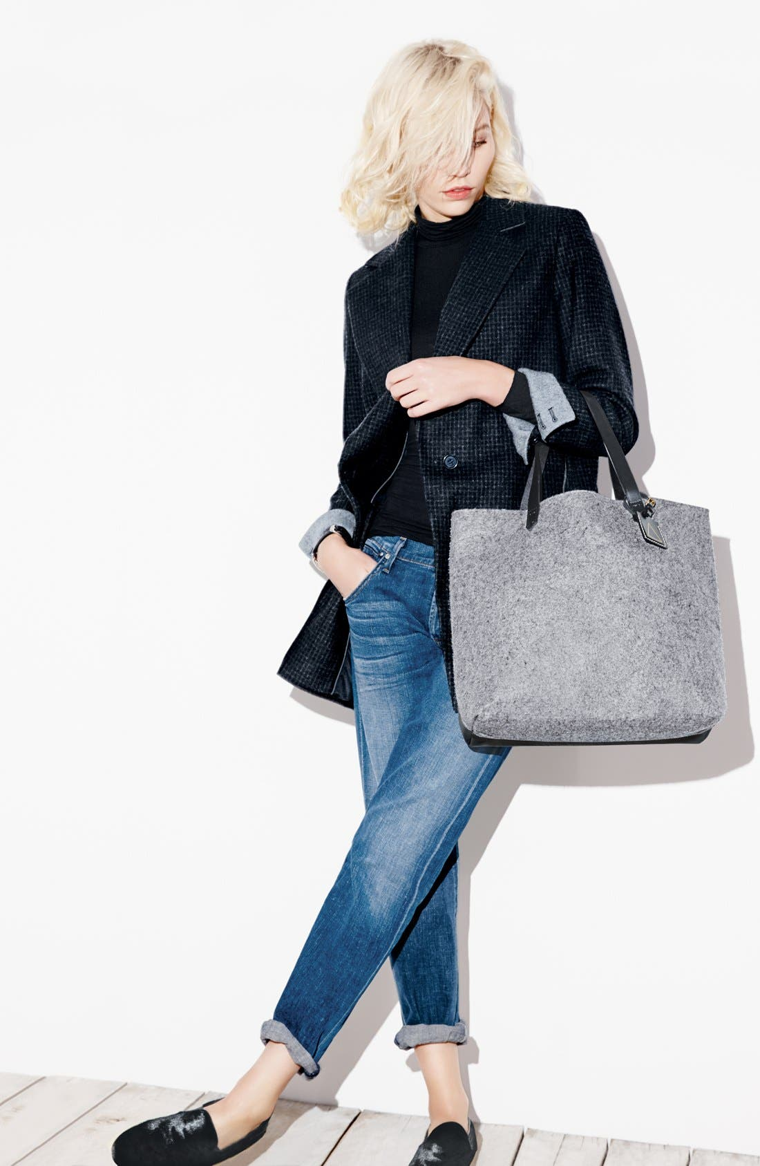 'Commuter' Leather Tote,                             Alternate thumbnail 6, color,