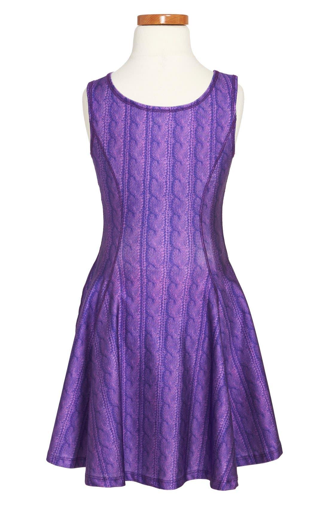 Alternate Image 2  - Terez Cable Knit Dress (Big Girls)
