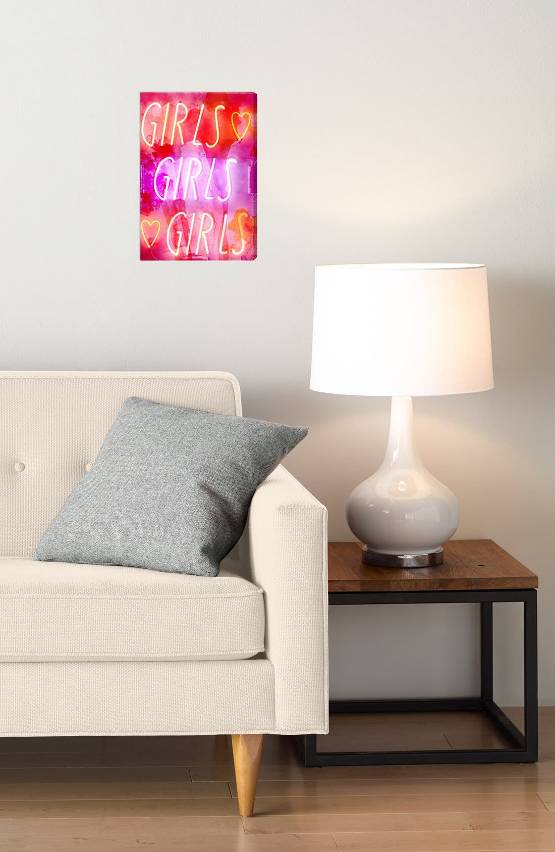 'Girls Girls Girls' Wall Art,                             Alternate thumbnail 2, color,                             Pink