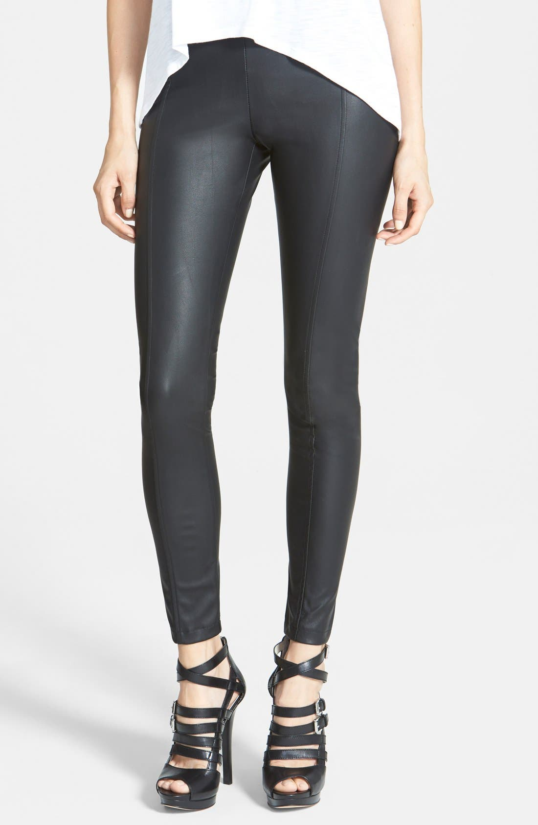 Alternate Image 1 Selected - Glamorous Faux Leather Leggings