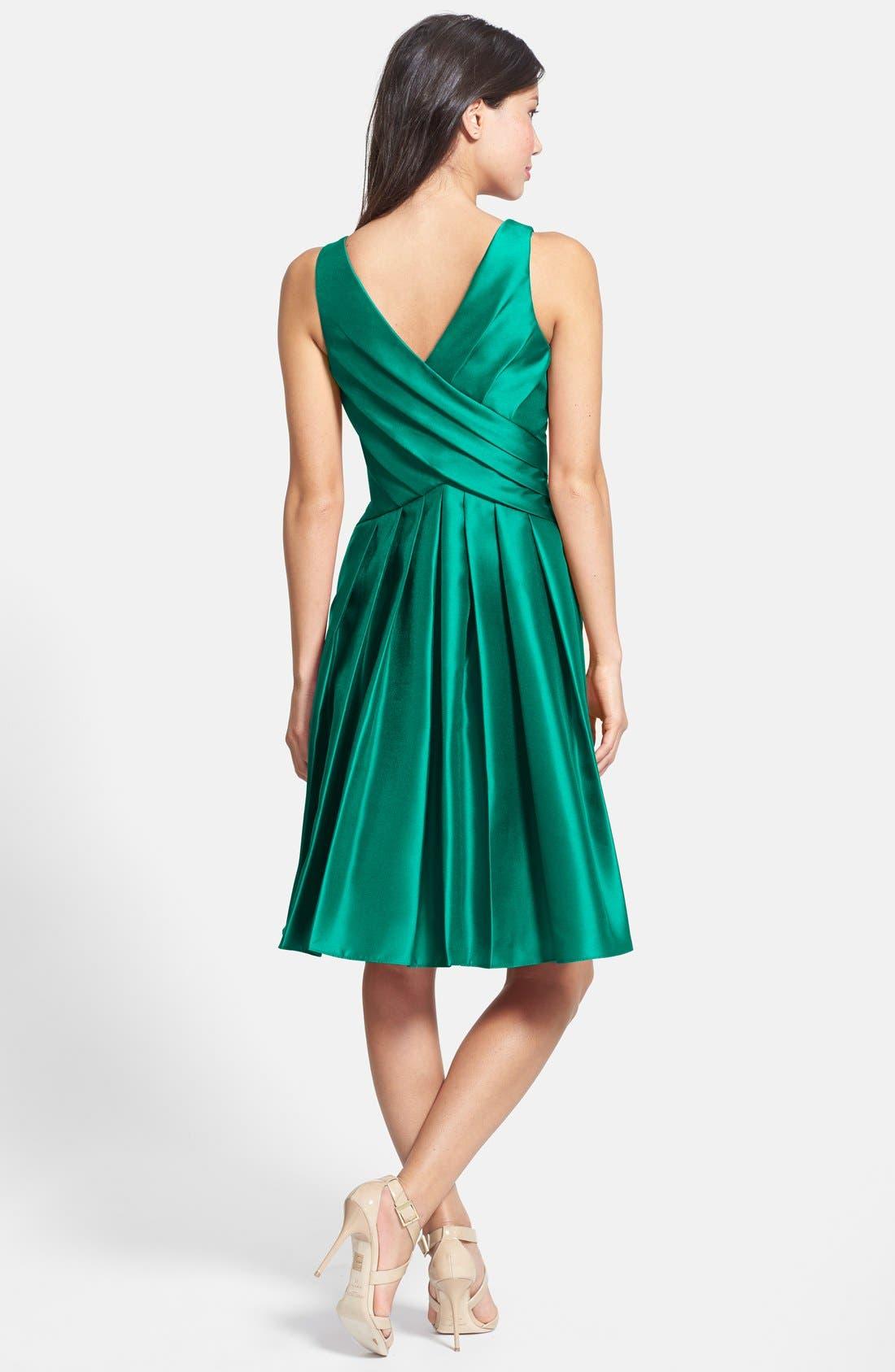 Alternate Image 2  - Pamella, Pamella Roland Gazar Fit & Flare Dress