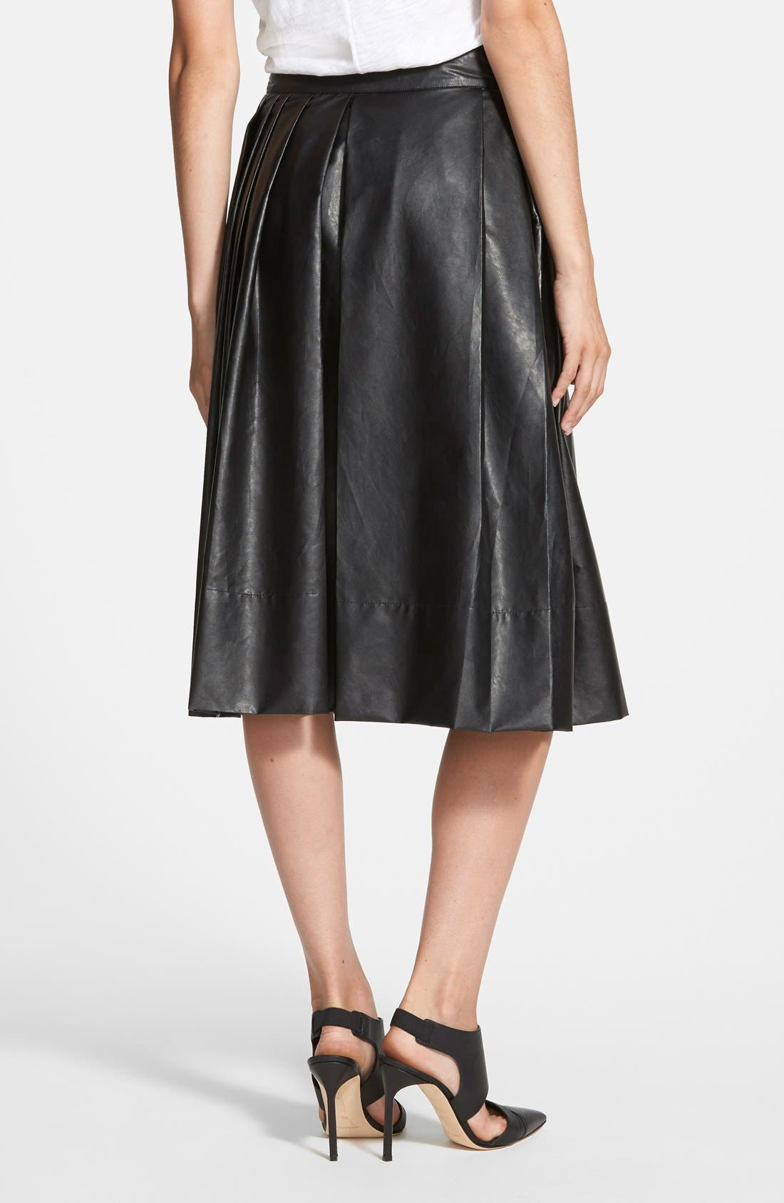 Alternate Image 2  - Leith 'Town' Pleated Skirt