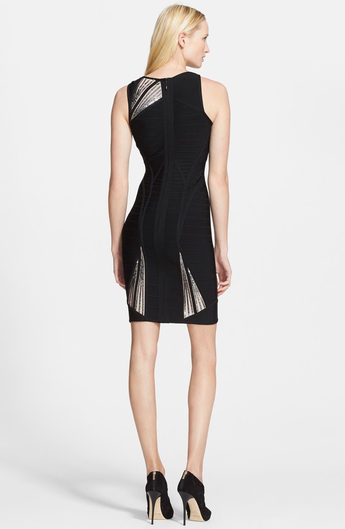 Alternate Image 2  - Herve Leger Triangle Detail Bandage Dress