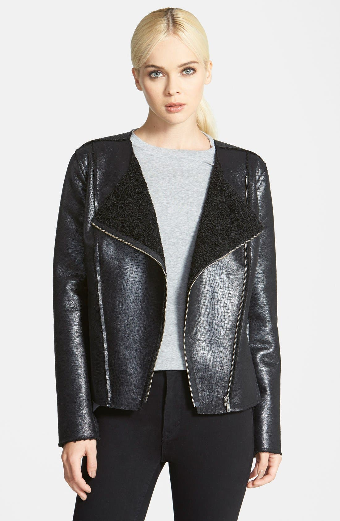 Main Image - Trouvé Reversible Biker Jacket
