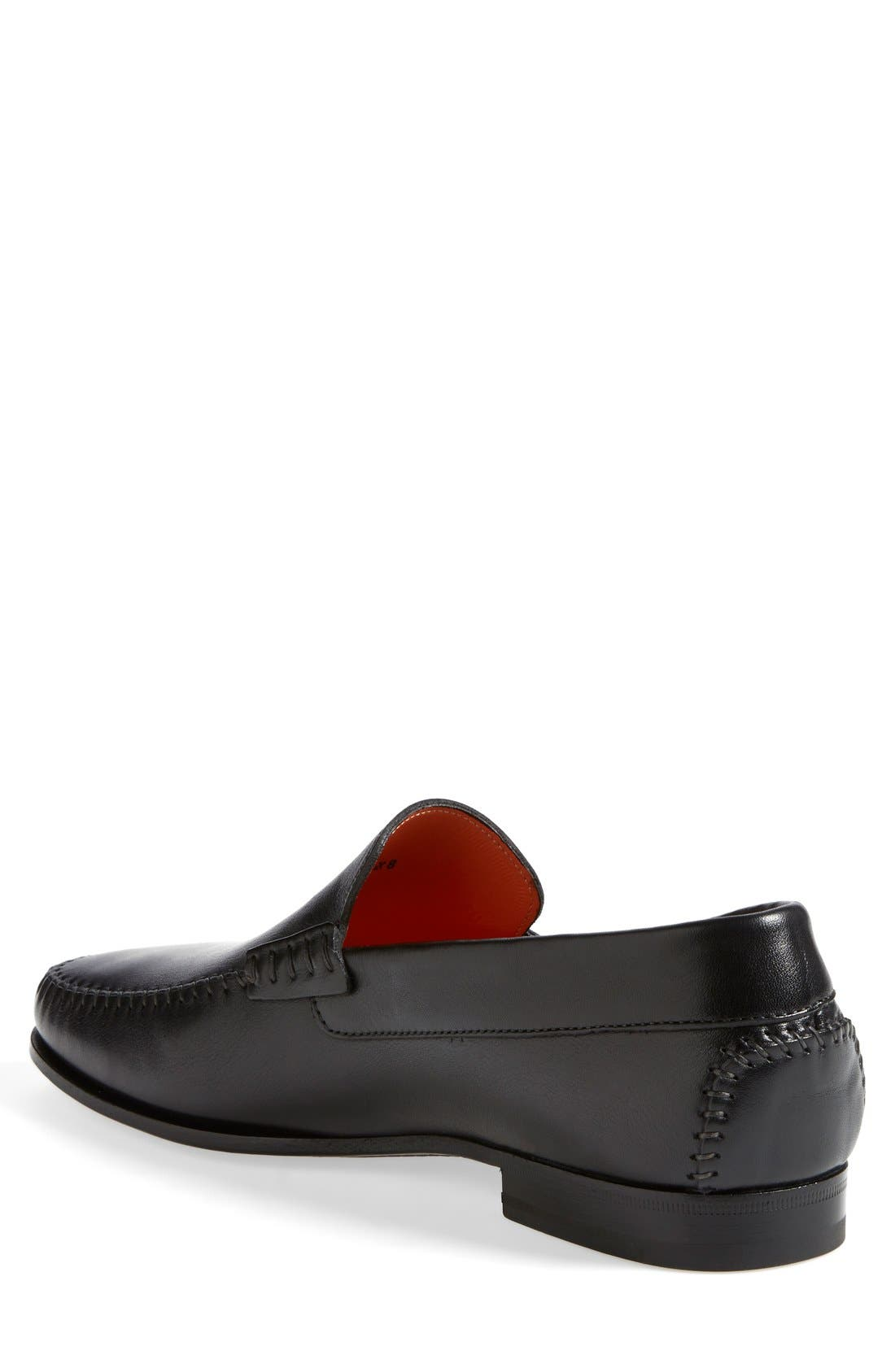 'Auburn' Venetian Loafer,                             Alternate thumbnail 2, color,                             Black Leather