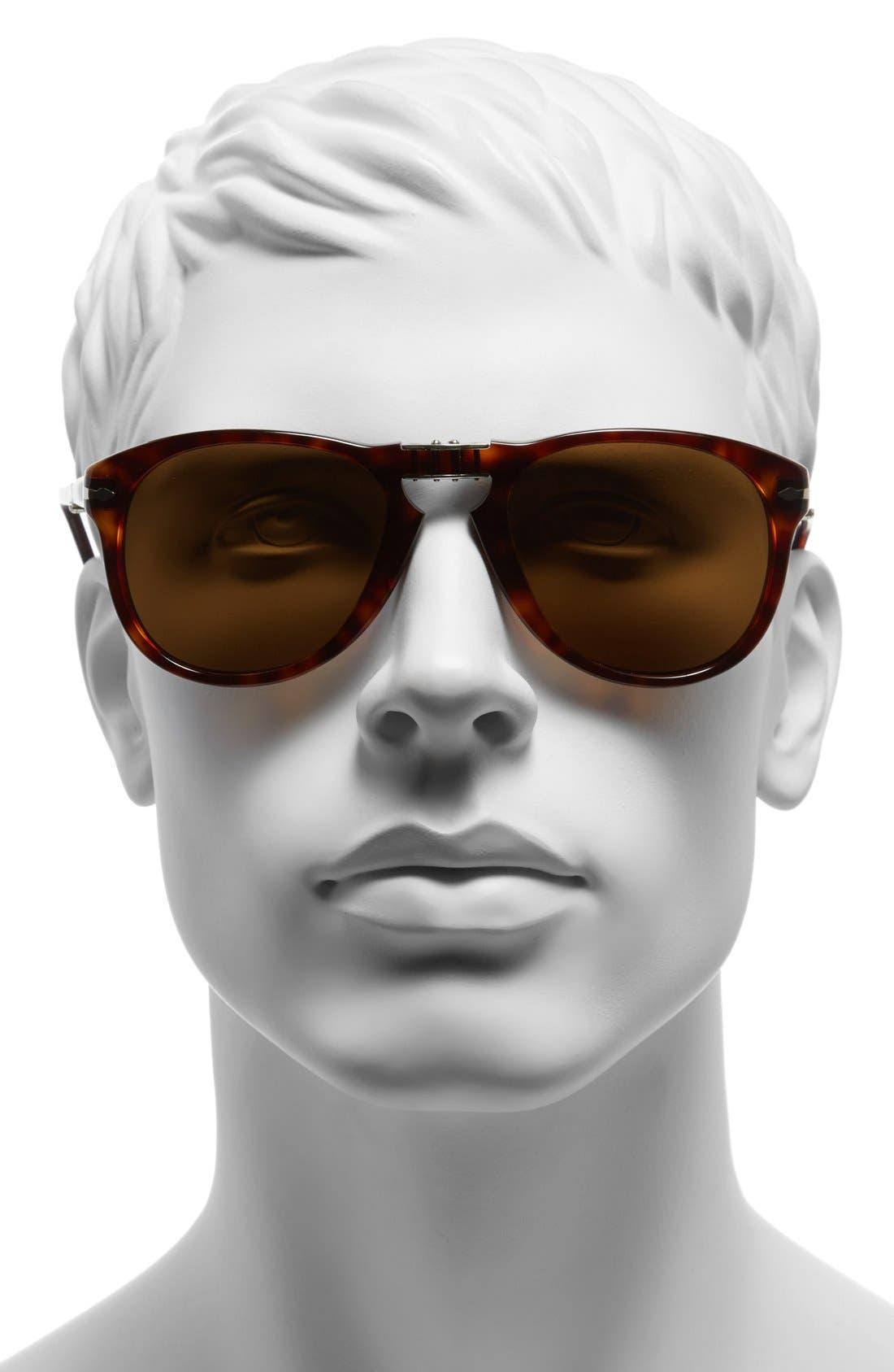 Alternate Image 2  - Persol '714' 57mm Folding Polarized Keyhole Sunglasses
