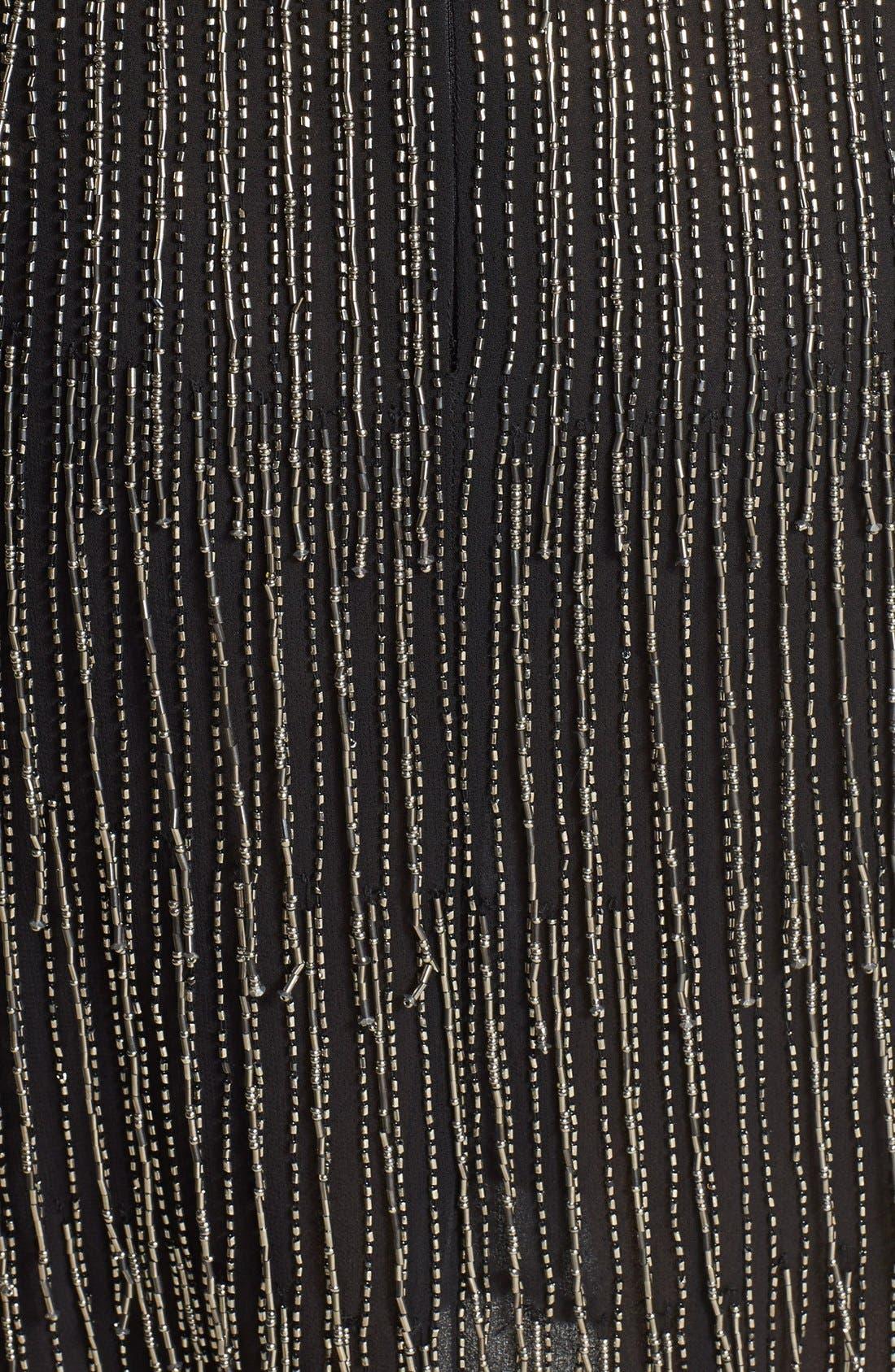 Alternate Image 4  - Adrianna Papell Beaded Fringe Blouson Dress