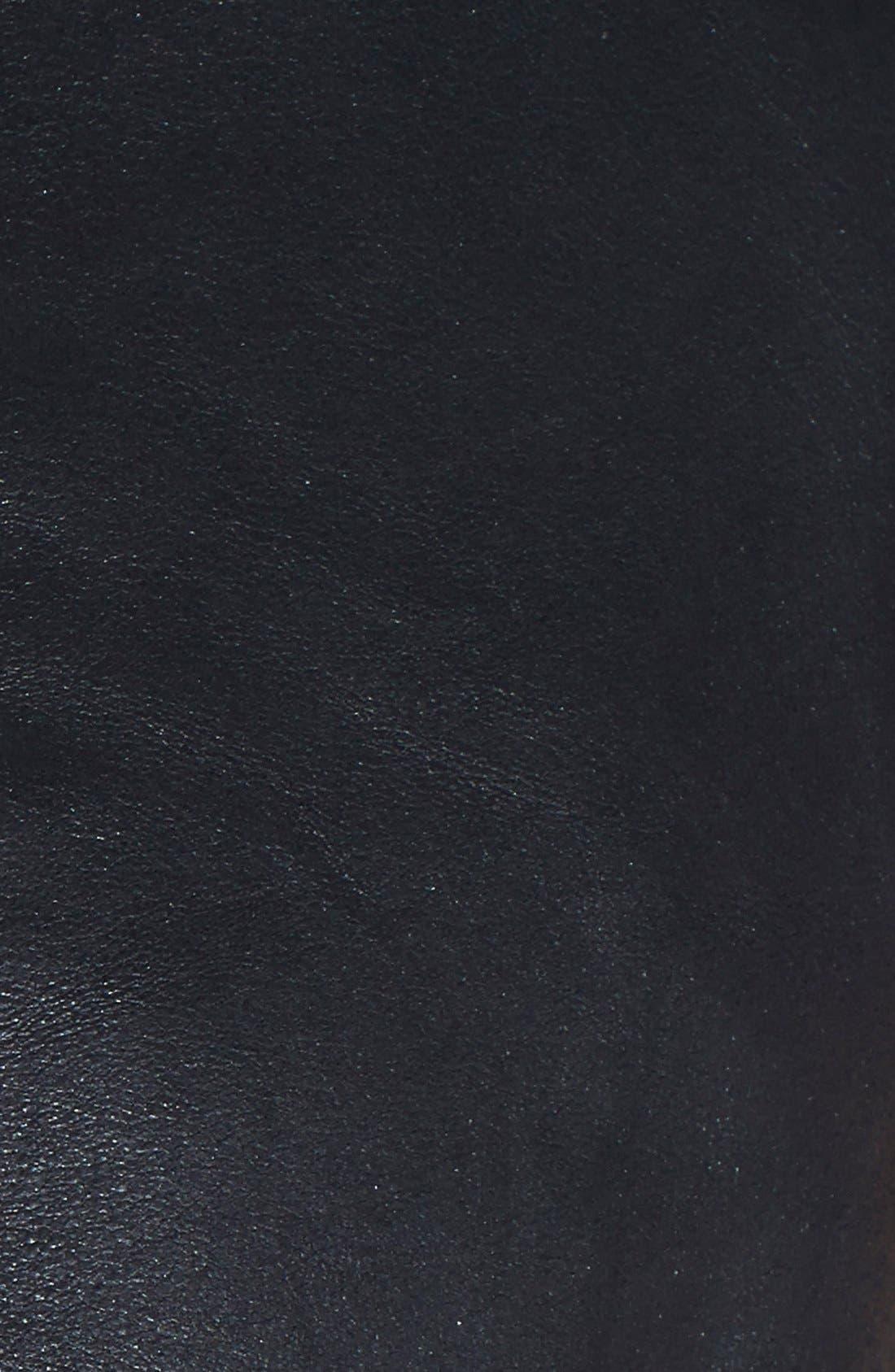 Alternate Image 3  - LaMarque Leather & Knit Moto Jacket