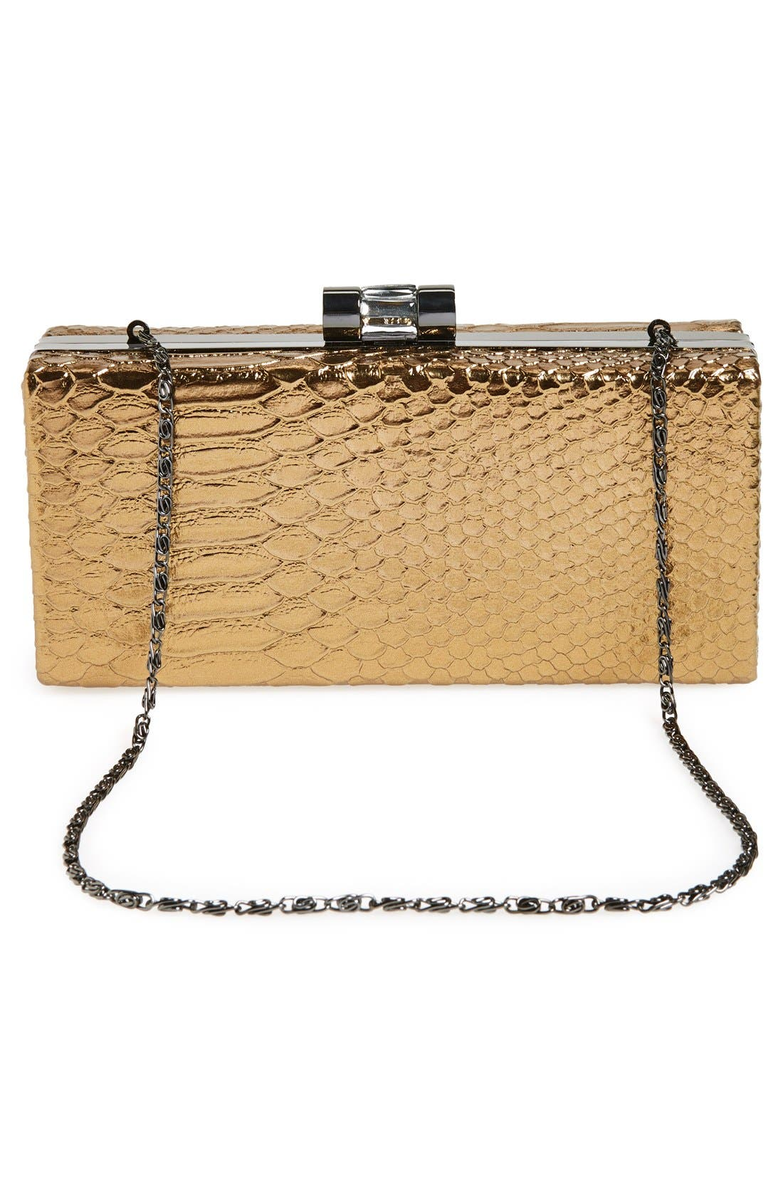Alternate Image 4  - Jessica McClintock Snake Embossed Box Clutch