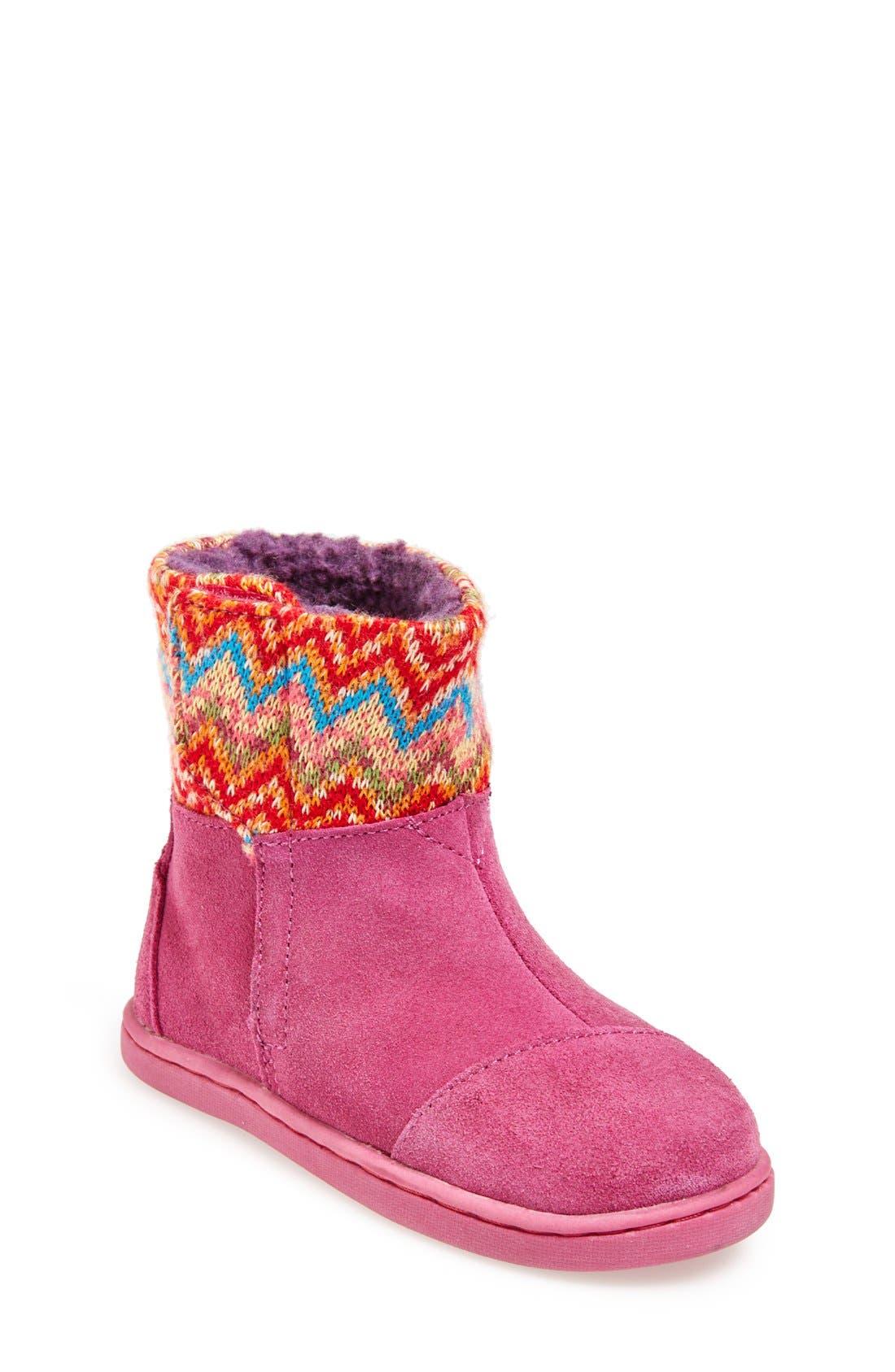 'Nepal - Tiny' Boot,                             Main thumbnail 1, color,                             Pink Multi Zigzag