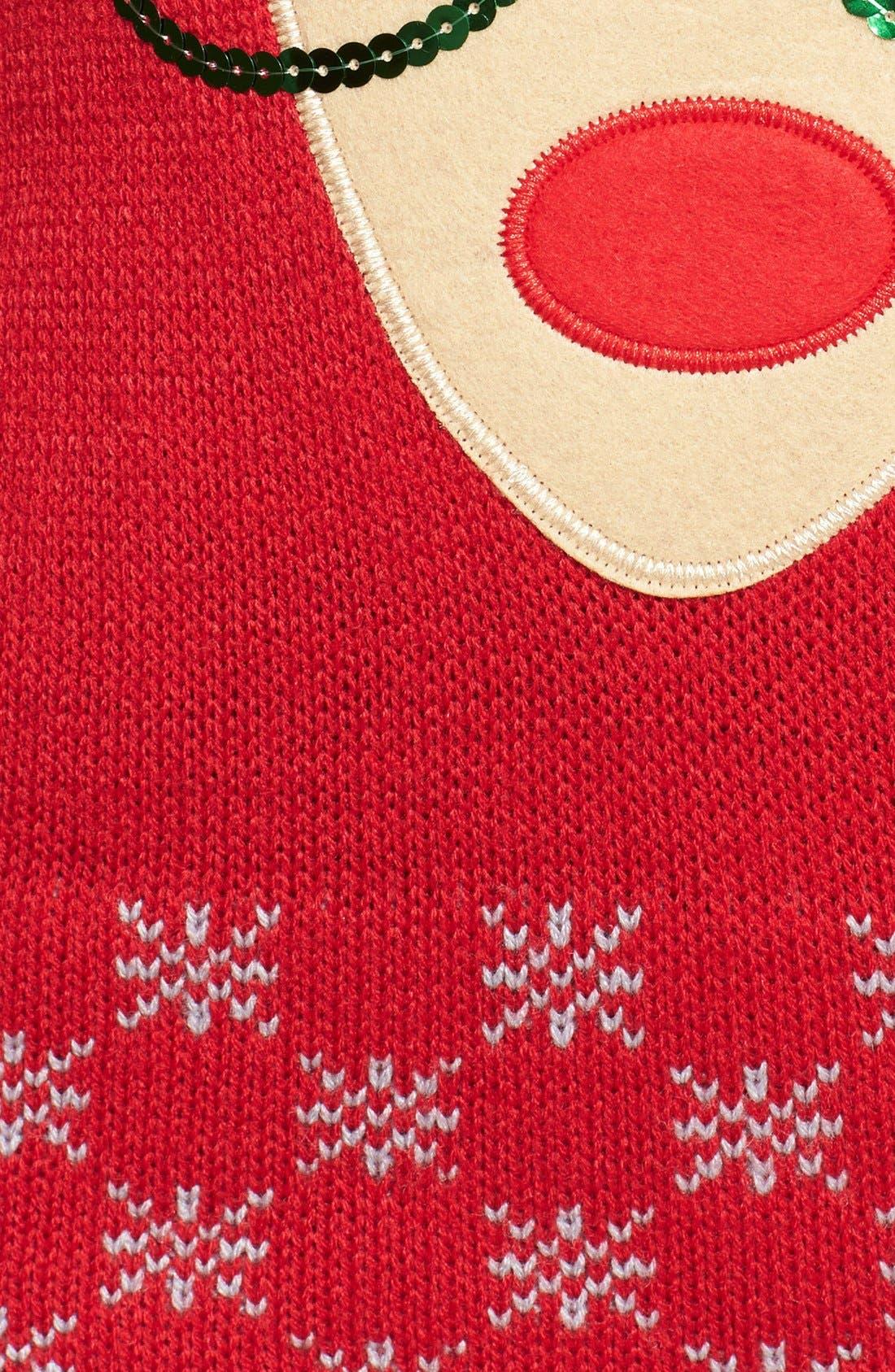 Alternate Image 3  - Derek Heart Reindeer Sequin Sweater (Juniors)
