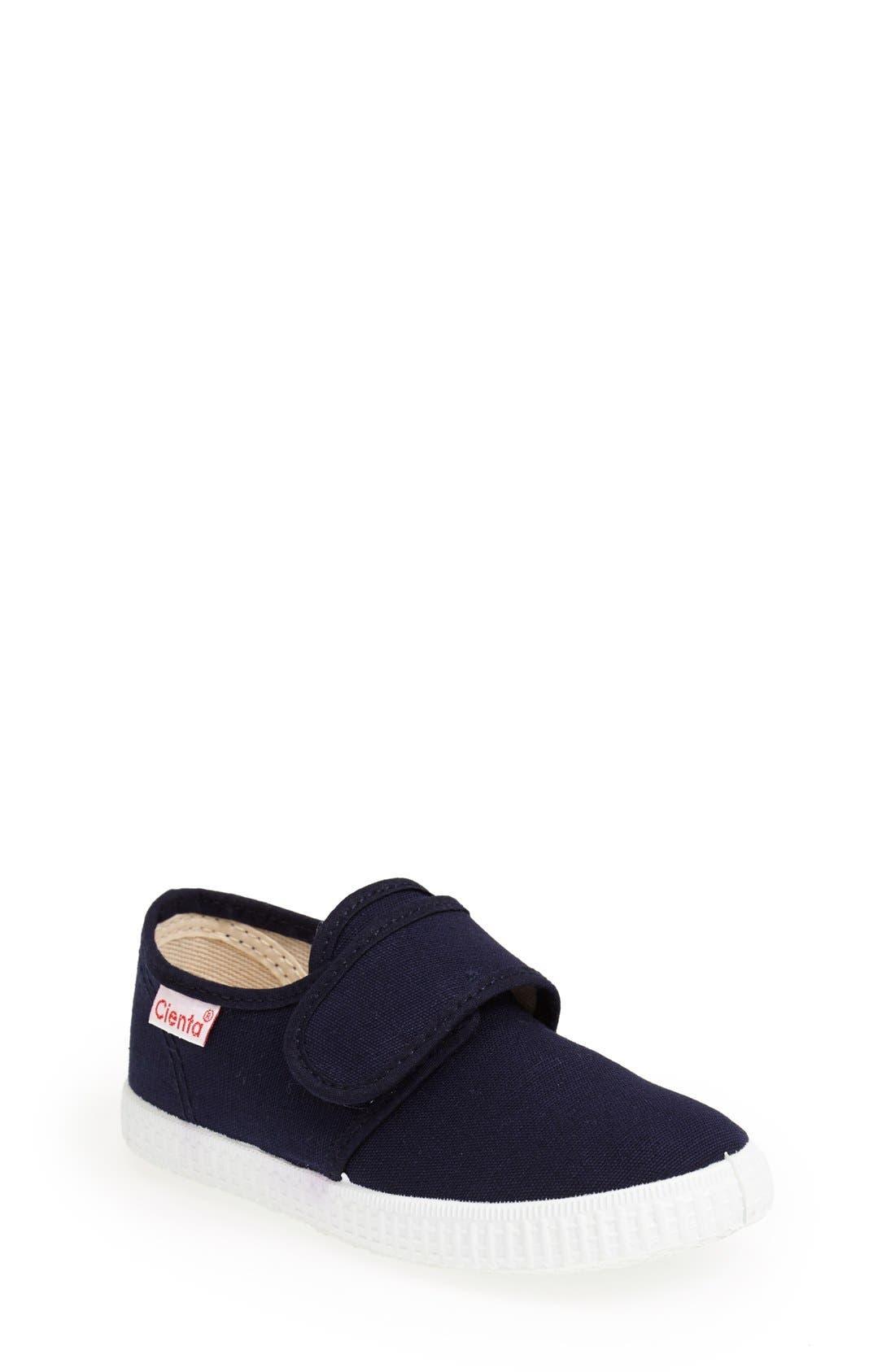 Canvas Sneaker,                             Main thumbnail 1, color,                             Navy