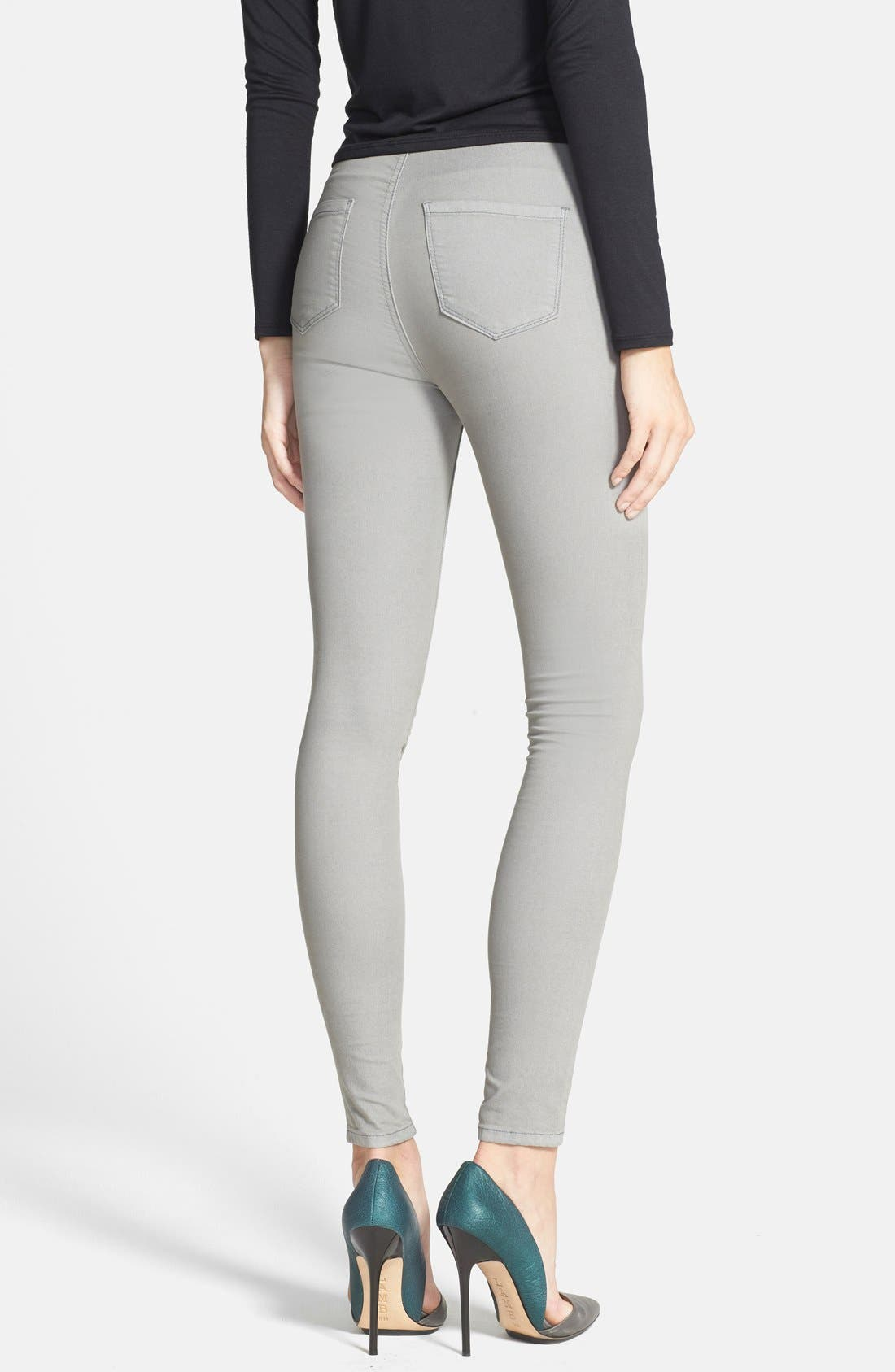 Alternate Image 2  - Glamorous High Rise Denim Leggings