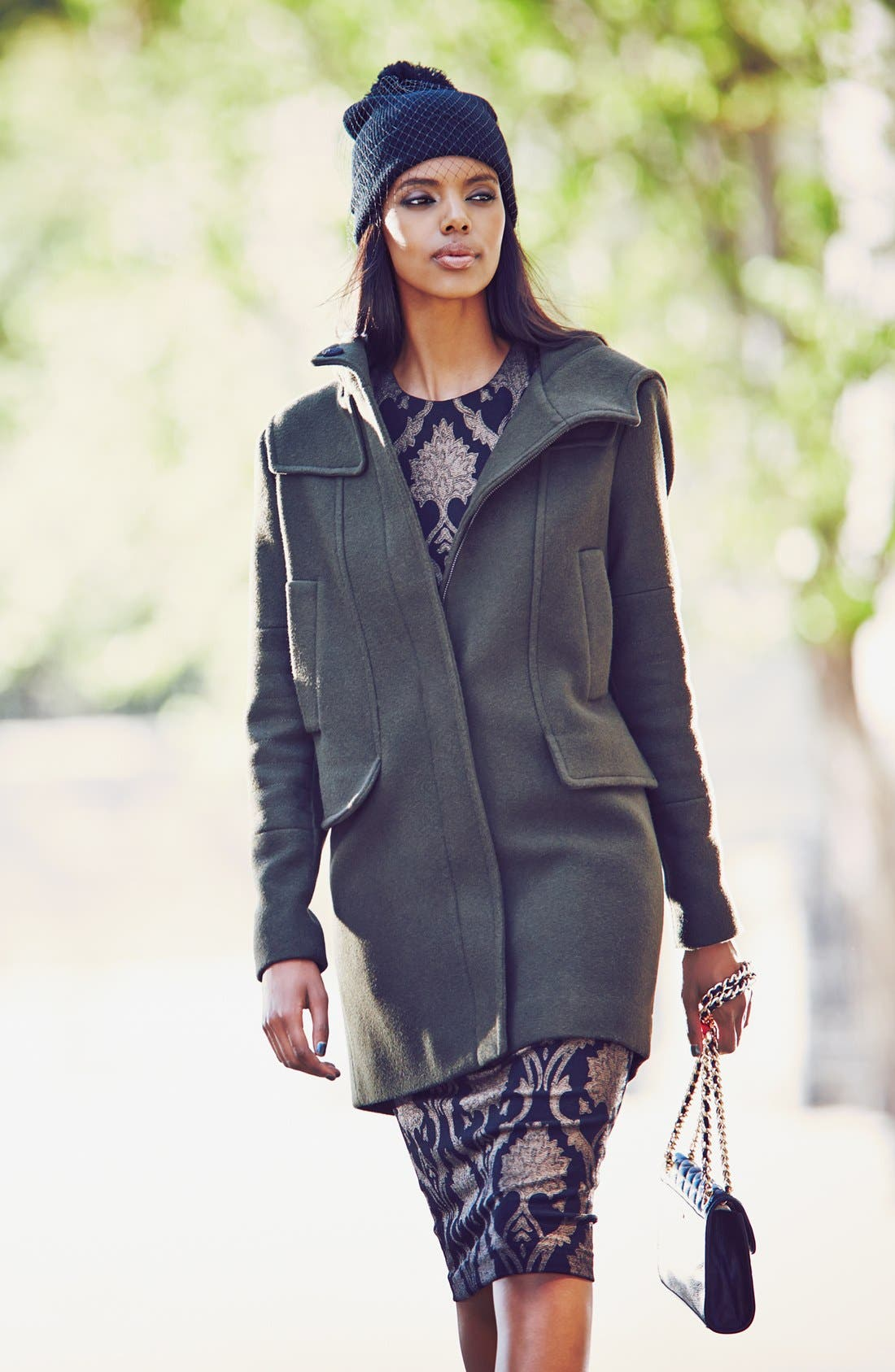 Alternate Image 2  - Vince Camuto Wool Blend Duffle Coat