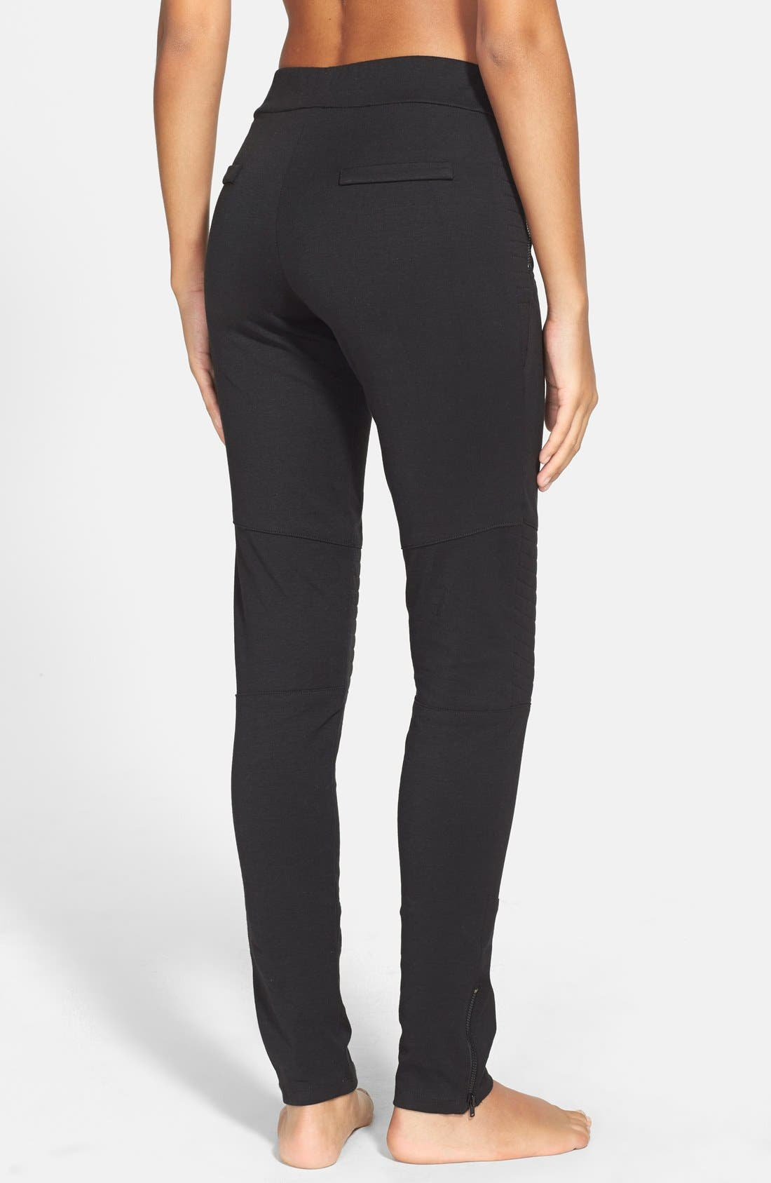 Alternate Image 2  - X by Gottex Quilted Panel Ponte Leggings