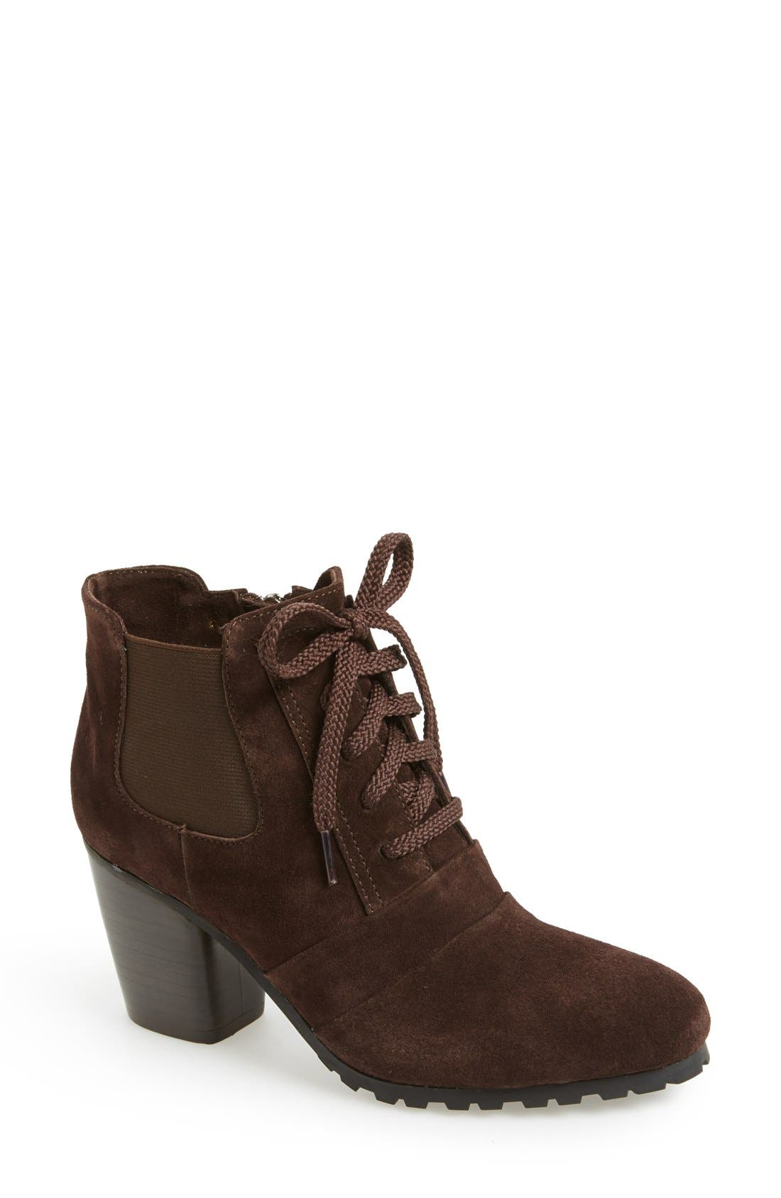 Alternate Image 1 Selected - VANELi 'Forrie' Lace Up Suede Bootie (Women)