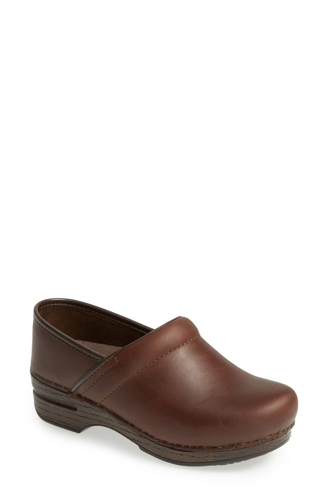 'Pro XP' Clog,                             Main thumbnail 1, color,                             Brown Oiled