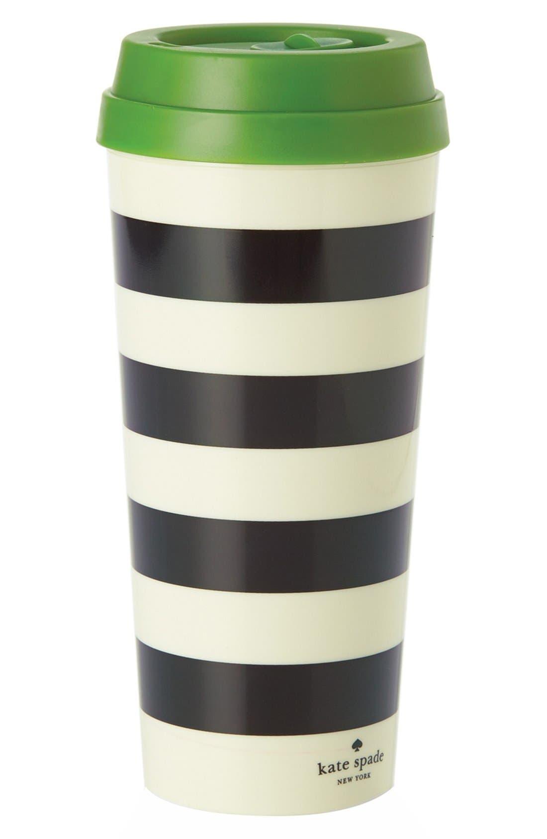 Main Image - kate spade new york stripe thermal travel mug