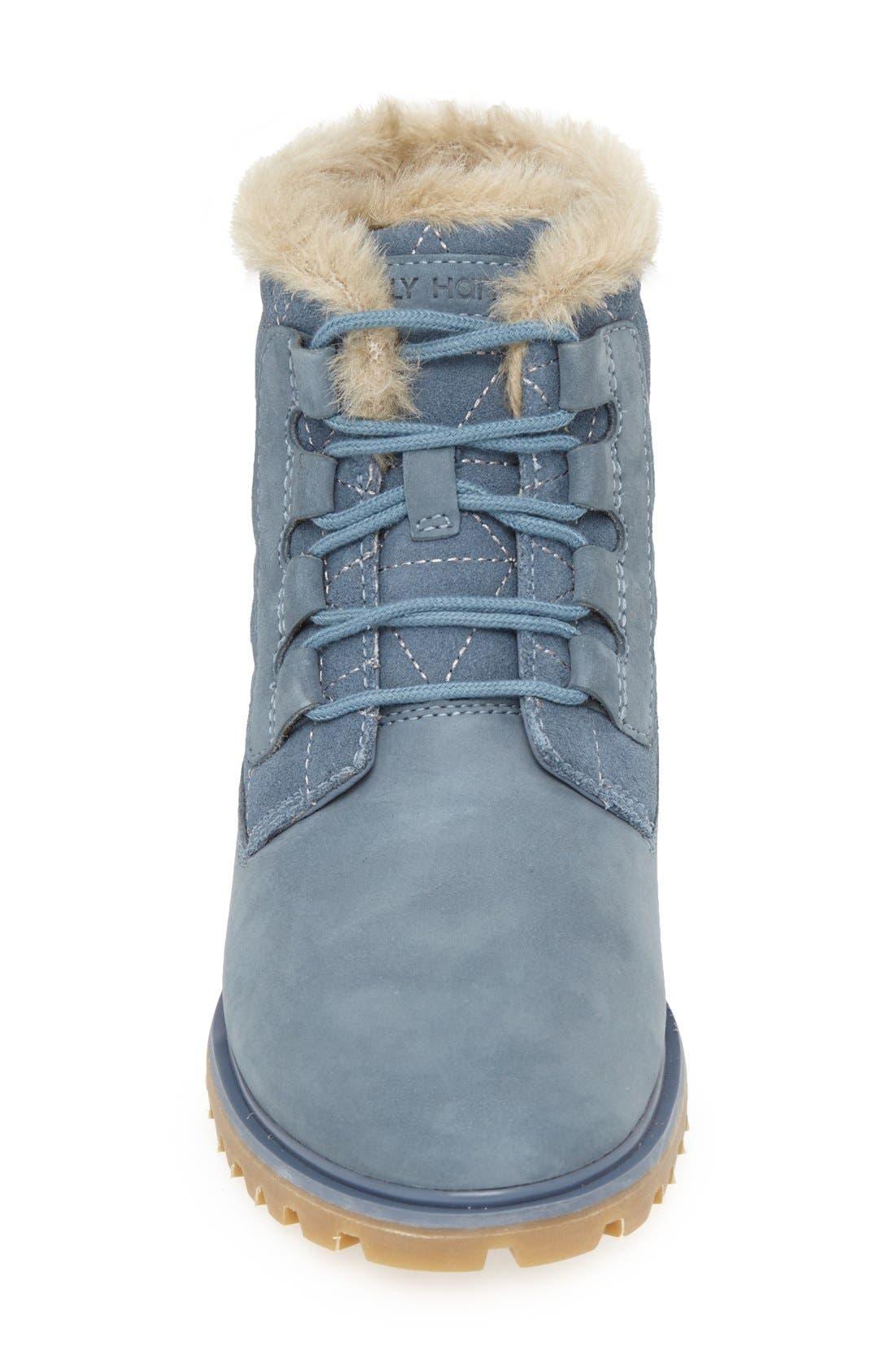 'Vega' Waterproof Leather Boot,                             Alternate thumbnail 3, color,                             Arctic Blue/ Natural