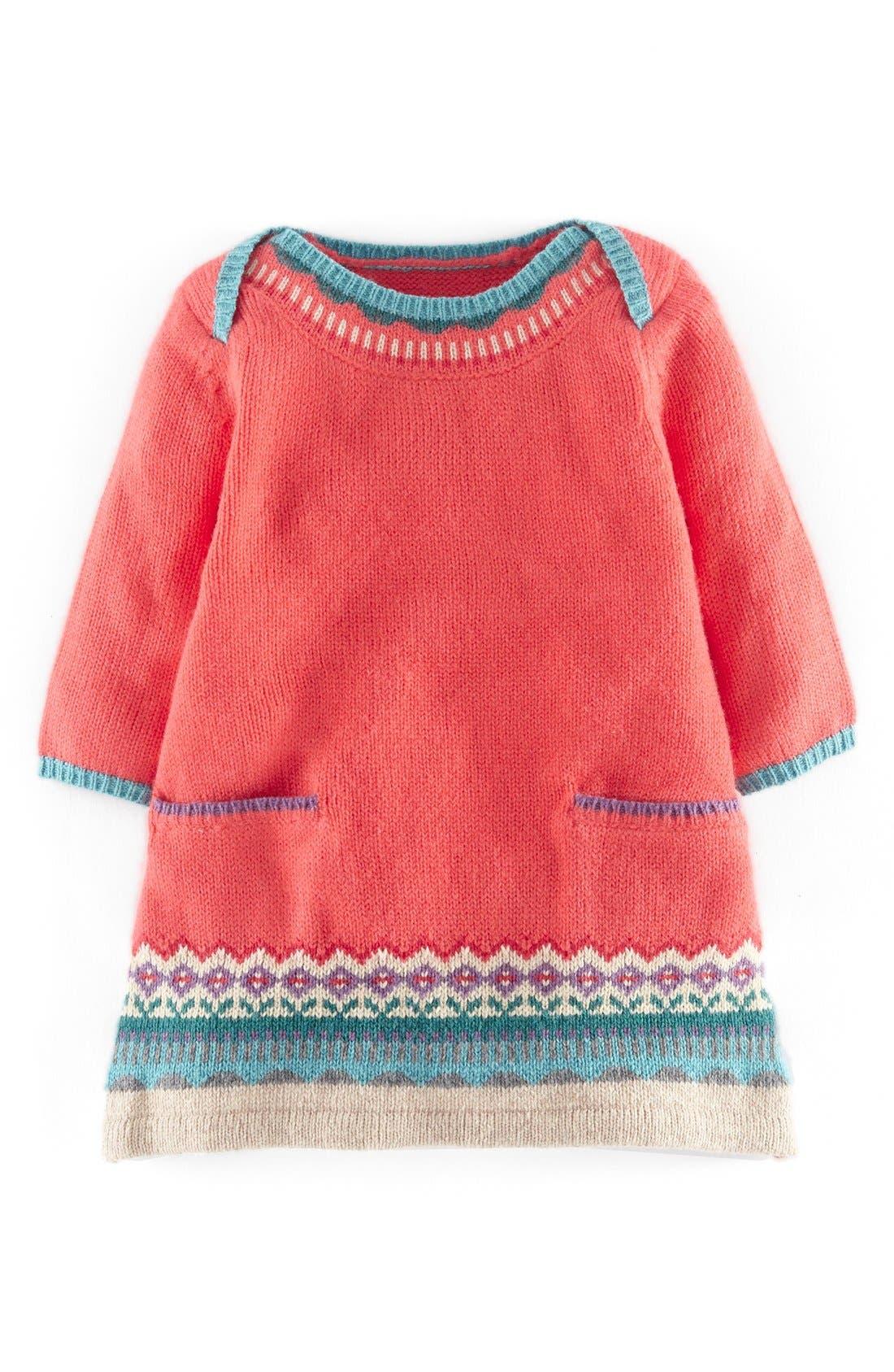 Mini Boden Fair Isle Knit Sweater Dress (Baby Girls)   Nordstrom