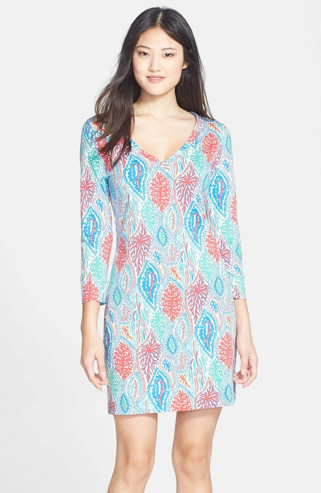 Alternate Image 1 Selected - Lilly Pulitzer® 'Christie' Print V-Neck Shift Dress
