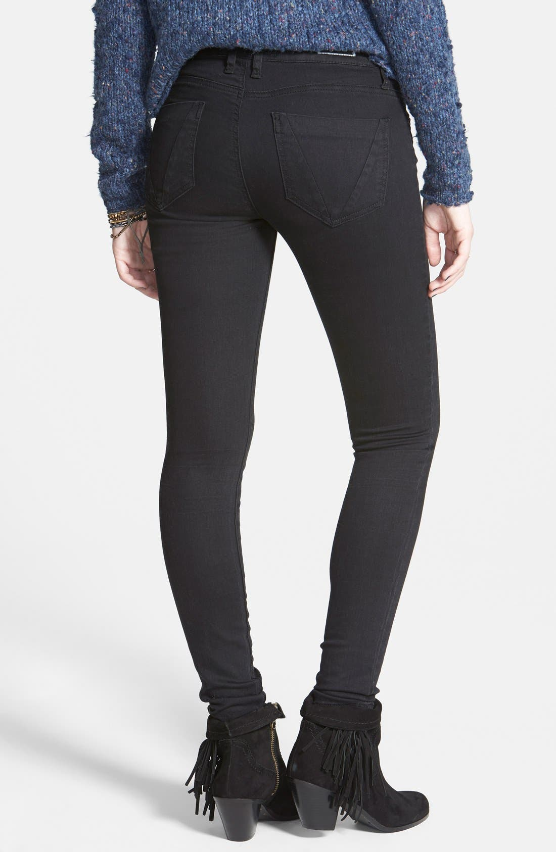 Alternate Image 2  - STS Blue Stretch Skinny Jeans (Black)