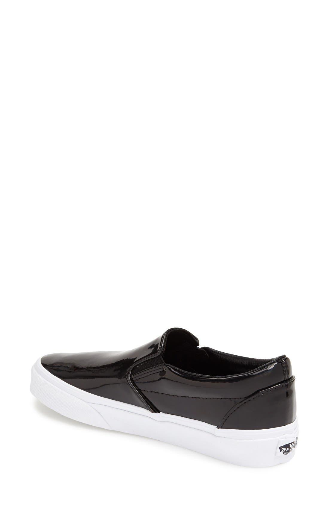 Alternate Image 2  - Vans Patent Leather Slip-On Sneaker (Women)