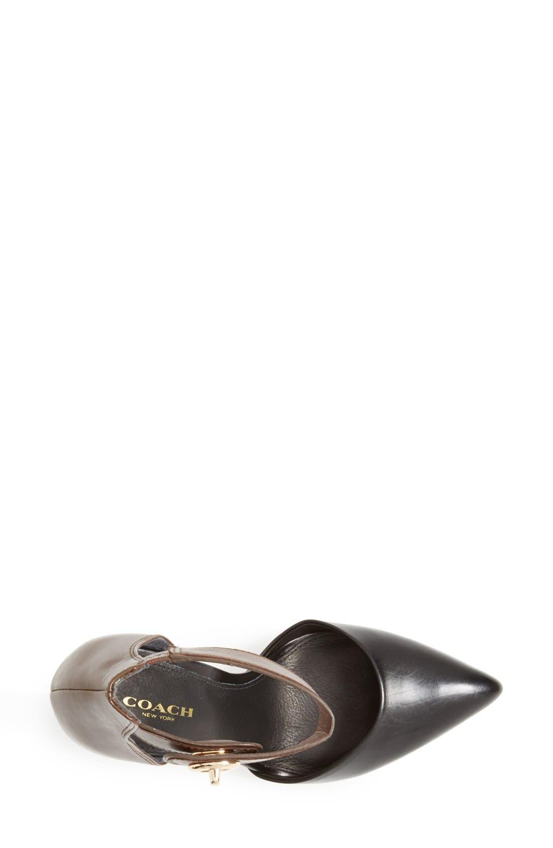 Alternate Image 3  - COACH 'Houston' Two-Tone Leather Ankle Strap Pump (Women)