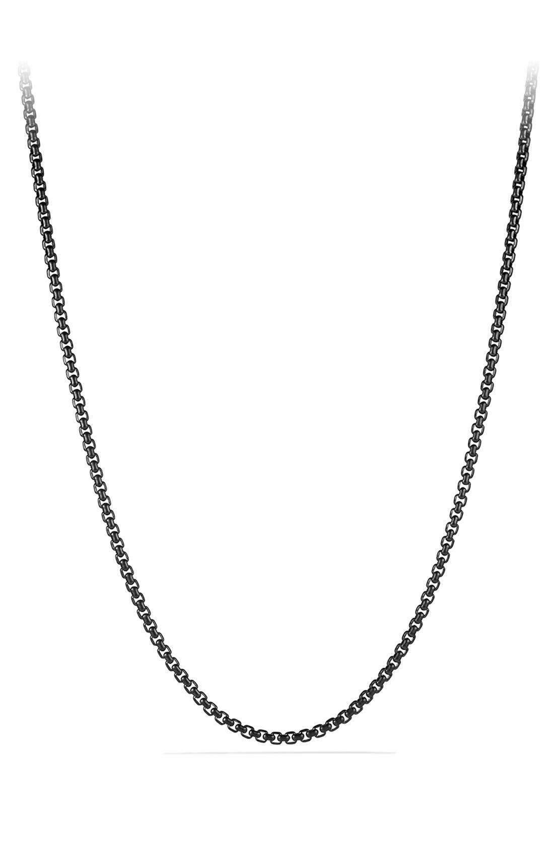 'Chain' Box Chain Necklace,                         Main,                         color, Stainless Steel