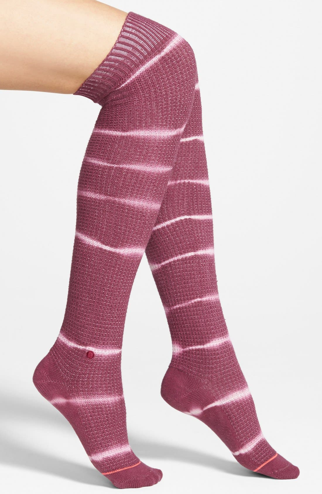 Main Image - Stance 'Icicle' Tie Dye Stripe Over the Knee Socks