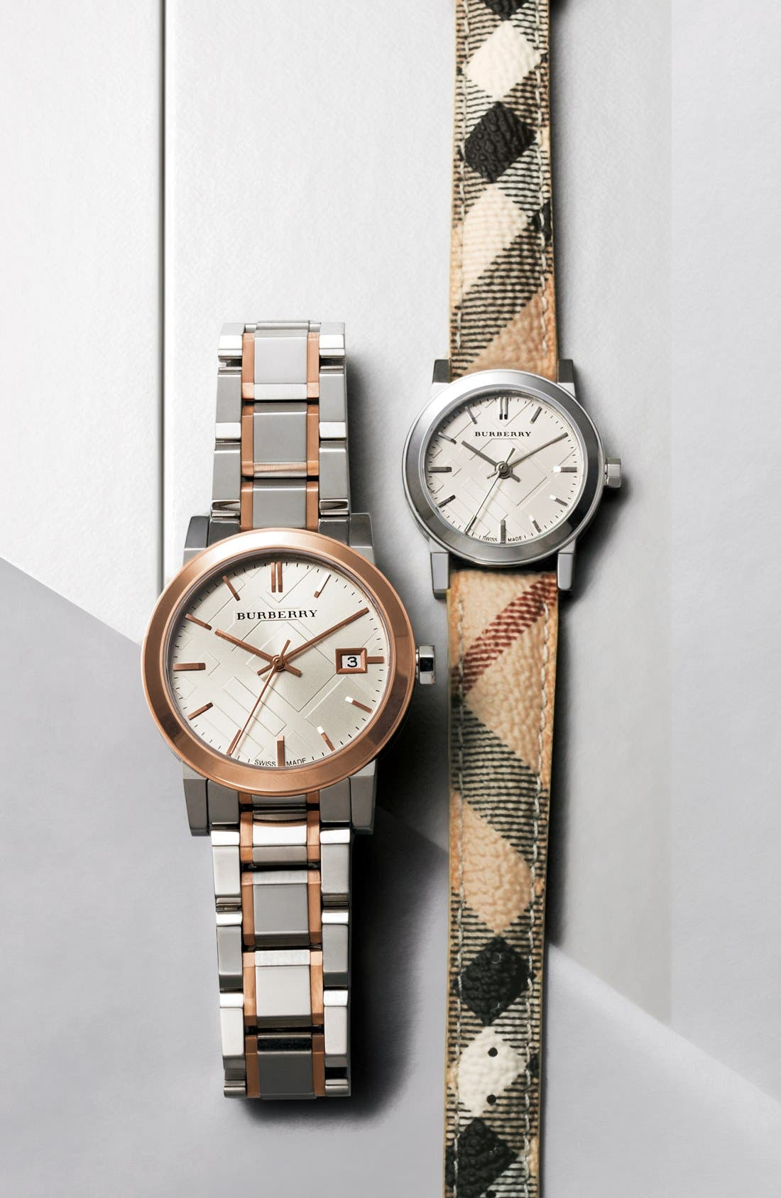 Alternate Image 5  - Burberry Medium Check Stamped Bracelet Watch, 34mm