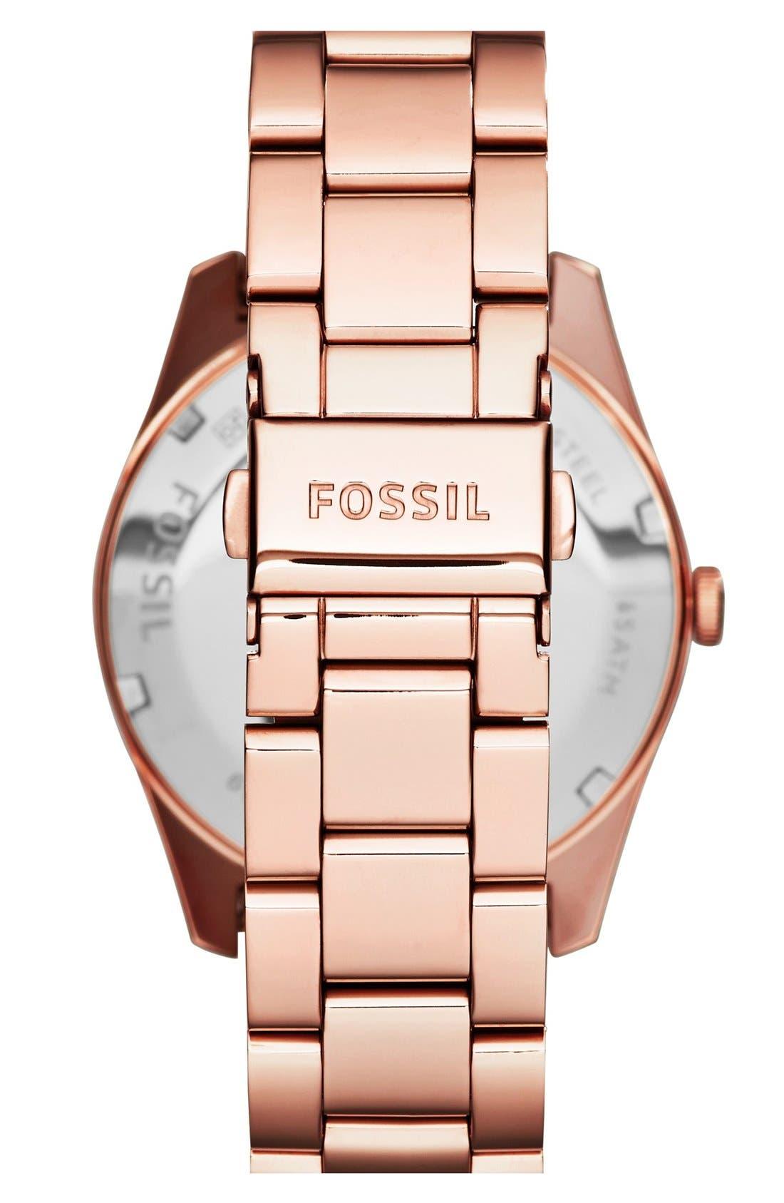 Alternate Image 2  - Fossil 'Perfect Boyfriend' Pavé Dial Bracelet Watch, 39mm