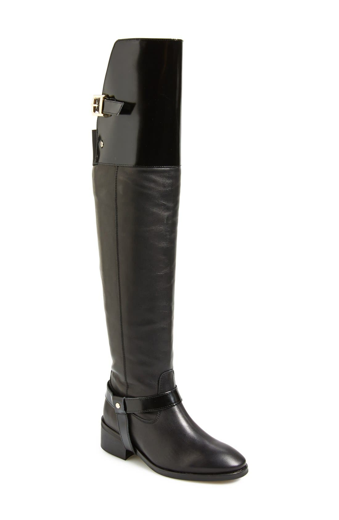 Alternate Image 1 Selected - Topshop 'Dreamer' Over the Knee Riding Boot (Women)