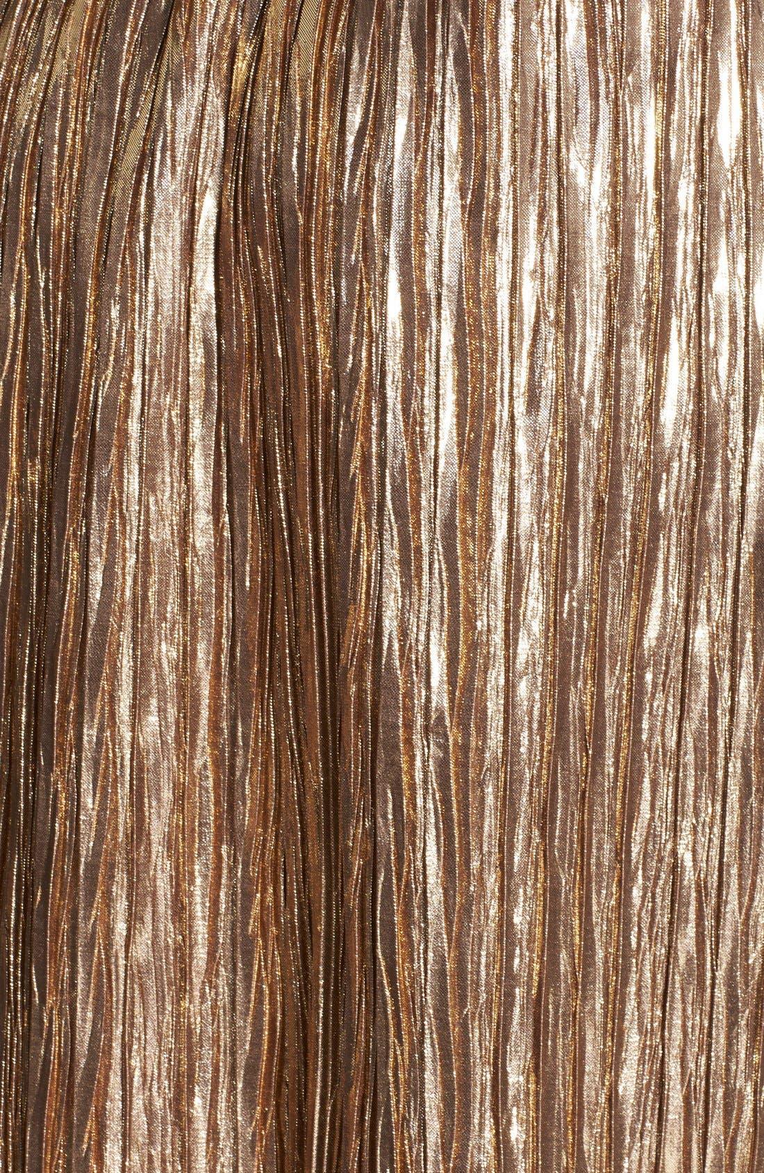 Alternate Image 3  - ASTR Metallic Crinkle Midi Skirt