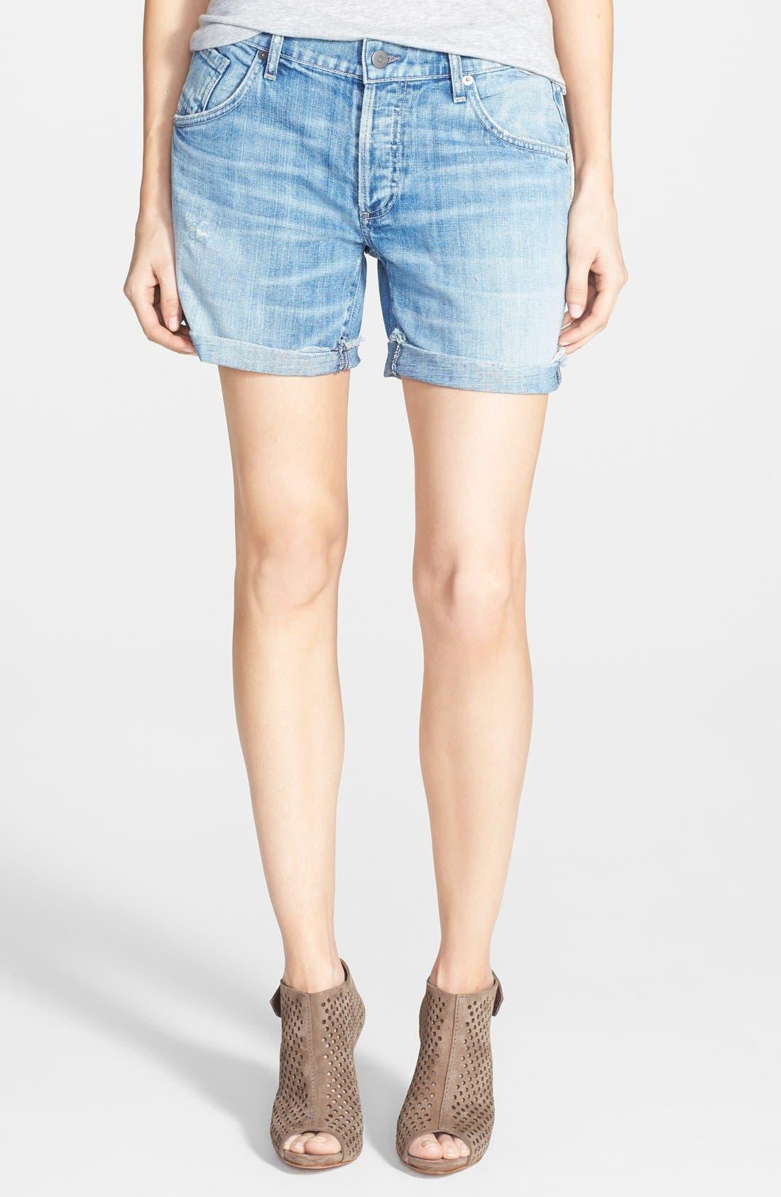 'Skler' Denim Shorts,                         Main,                         color, Sebring