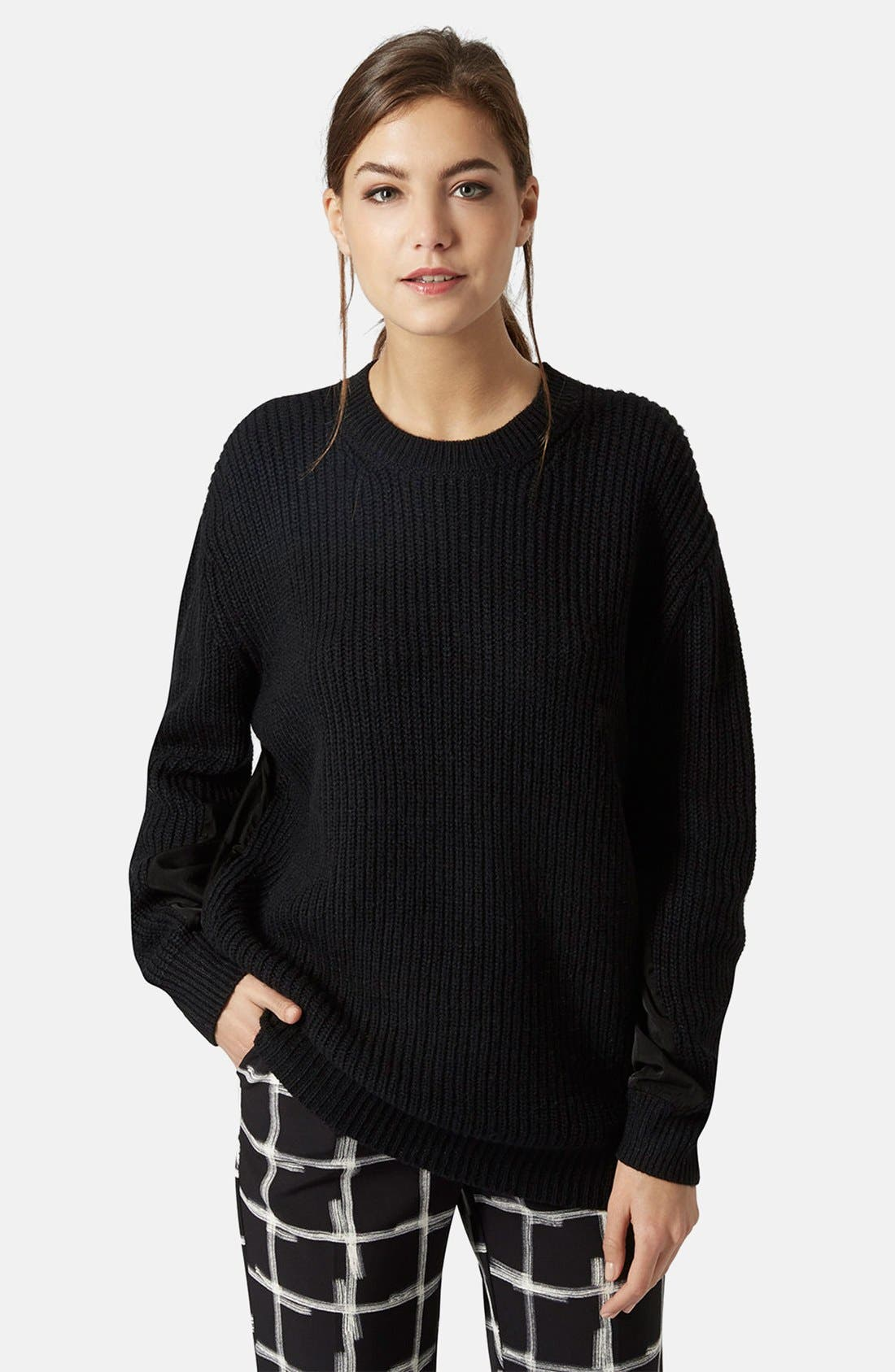Alternate Image 1 Selected - Topshop Hybrid Rib Sweater