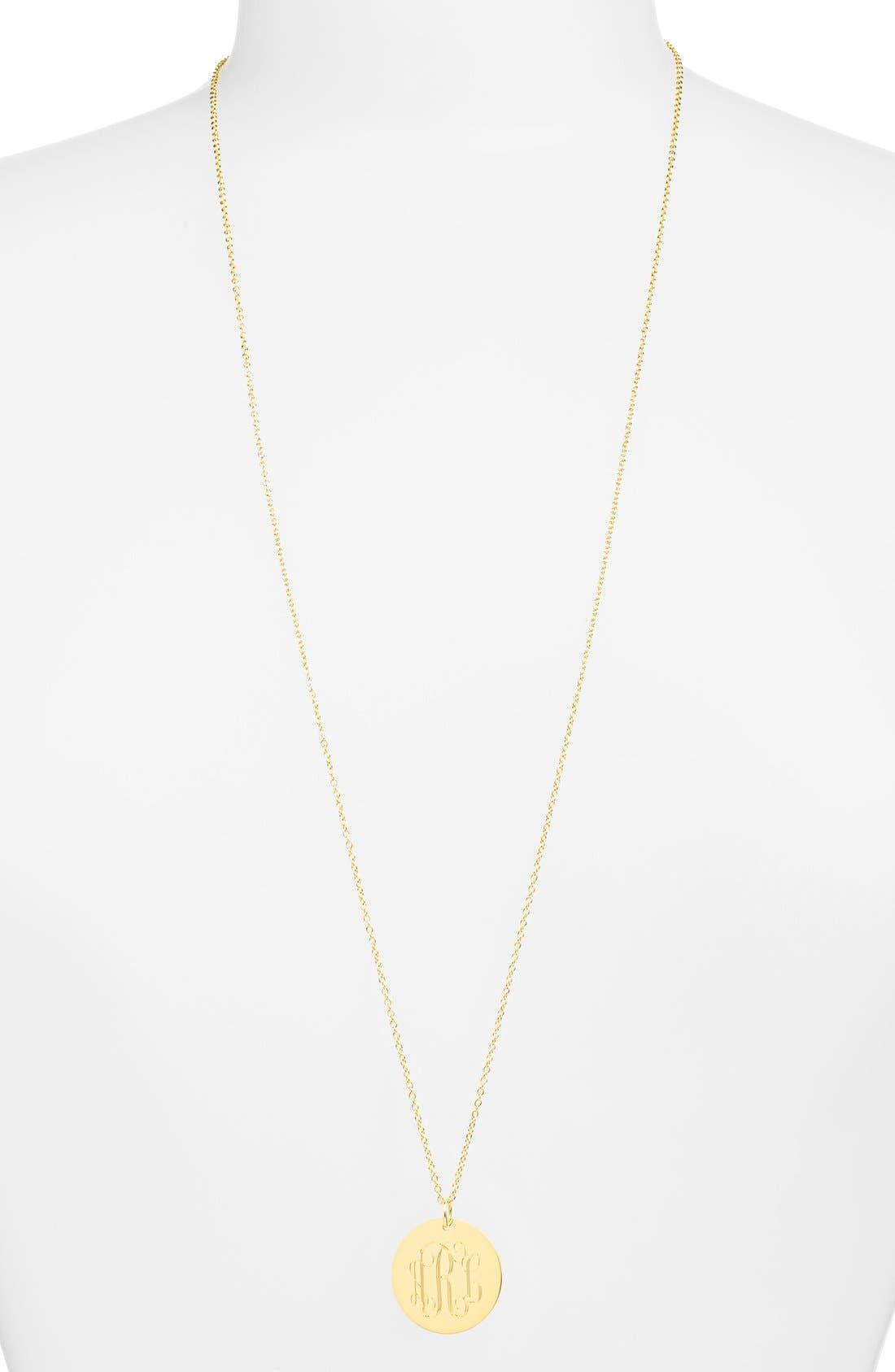 Personalized Reversible Pendant Necklace,                             Alternate thumbnail 3, color,                             Gold