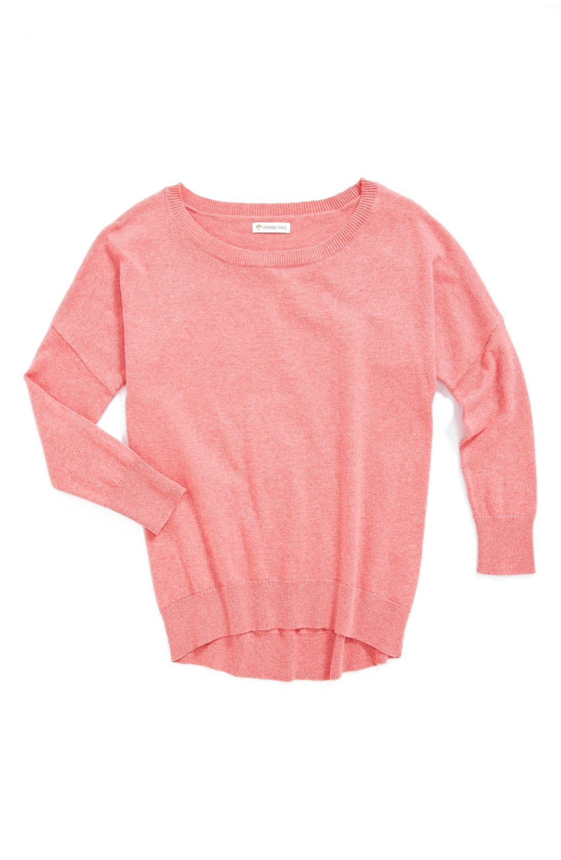 Main Image - Tucker + Tate High Low Cotton & Cashmere Sweater (Little Girls & Big Girls)