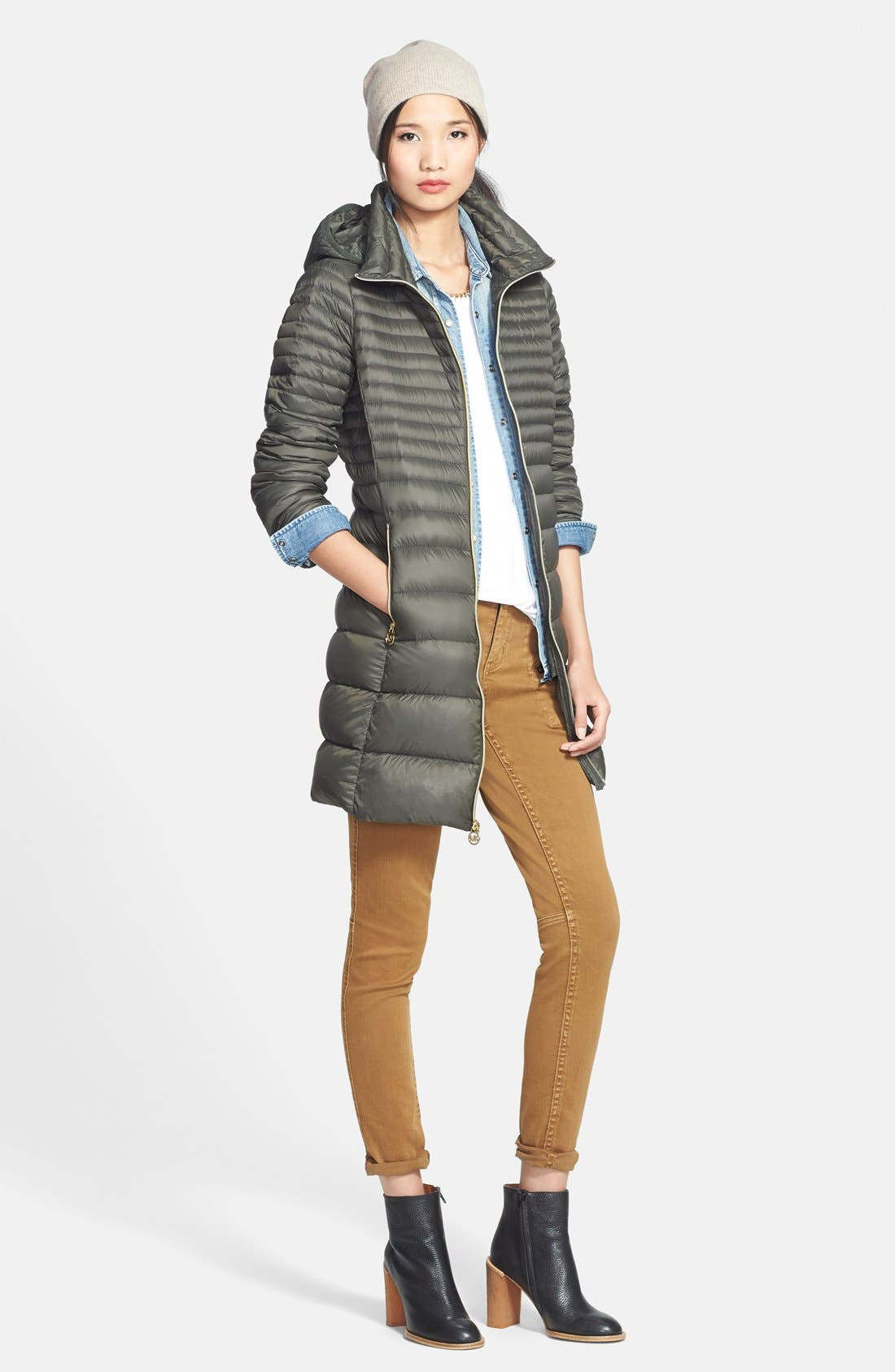 Main Image - MICHAEL Michael Kors Packable Hooded Down Coat (Online Only)