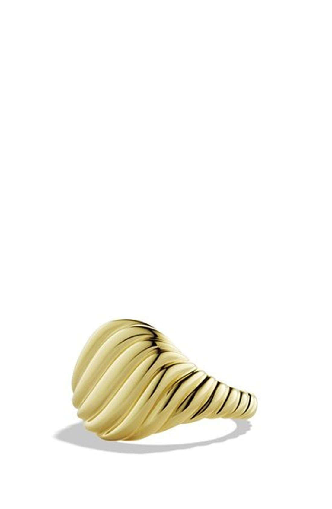 'DY Signature' Cable Pinky Ring in Gold,                         Main,                         color, Yellow Gold