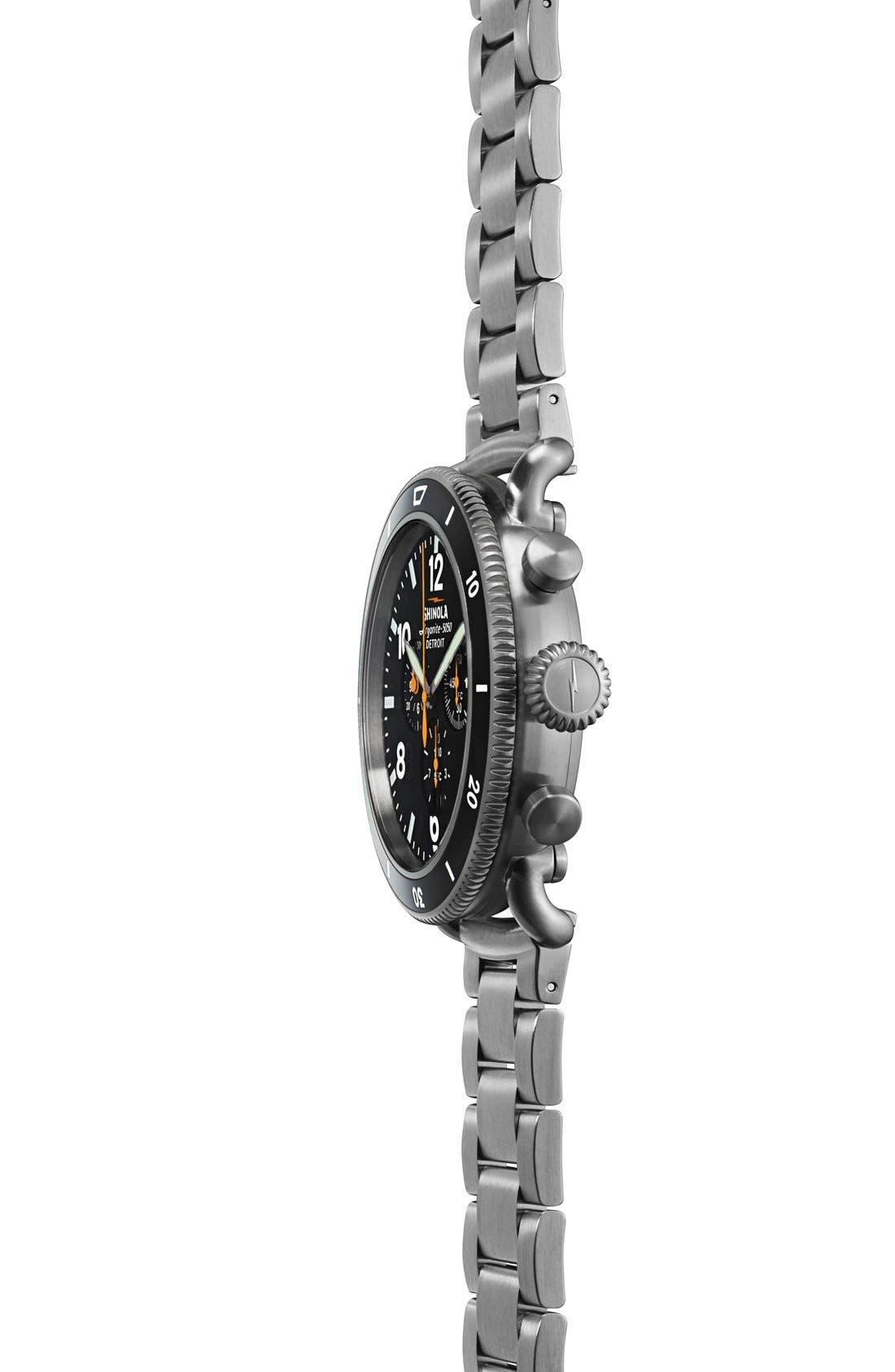 Alternate Image 5  - Shinola 'The Black Blizzard' Chronograph Interchangeable Strap Watch, 48mm (Limited Edition)