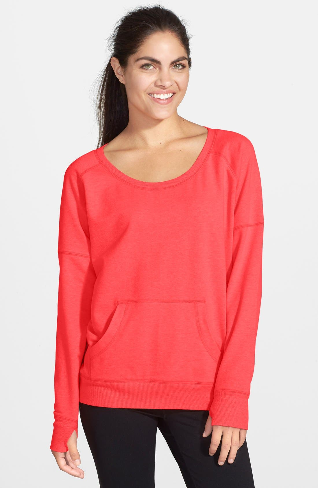 Alternate Image 1 Selected - Zella 'Heart It' French Terry Sweatshirt