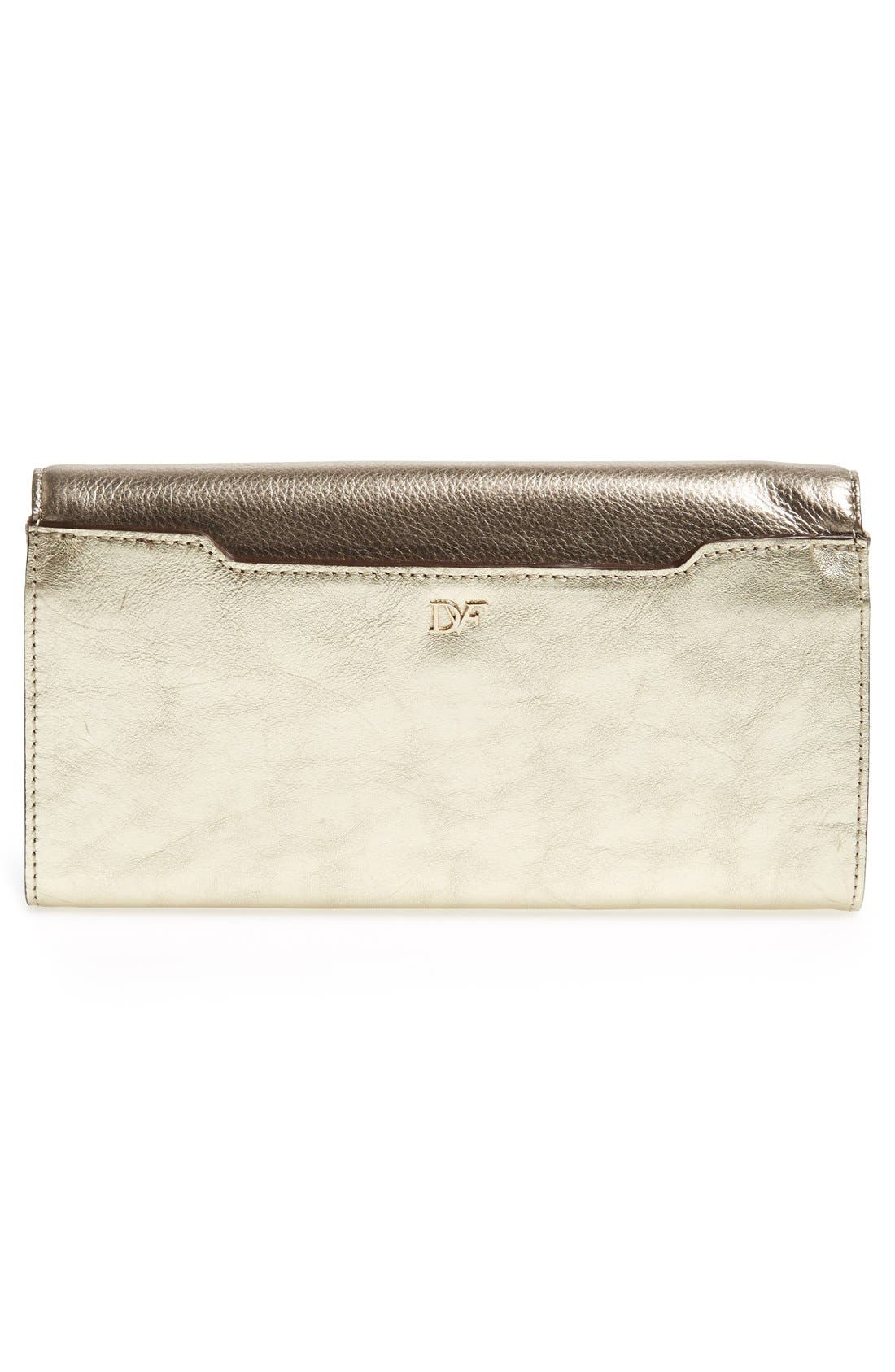 '440 - Mixed Metallic' Envelope Clutch,                             Alternate thumbnail 4, color,                             Tinsel/ Light Gold/ Pewter