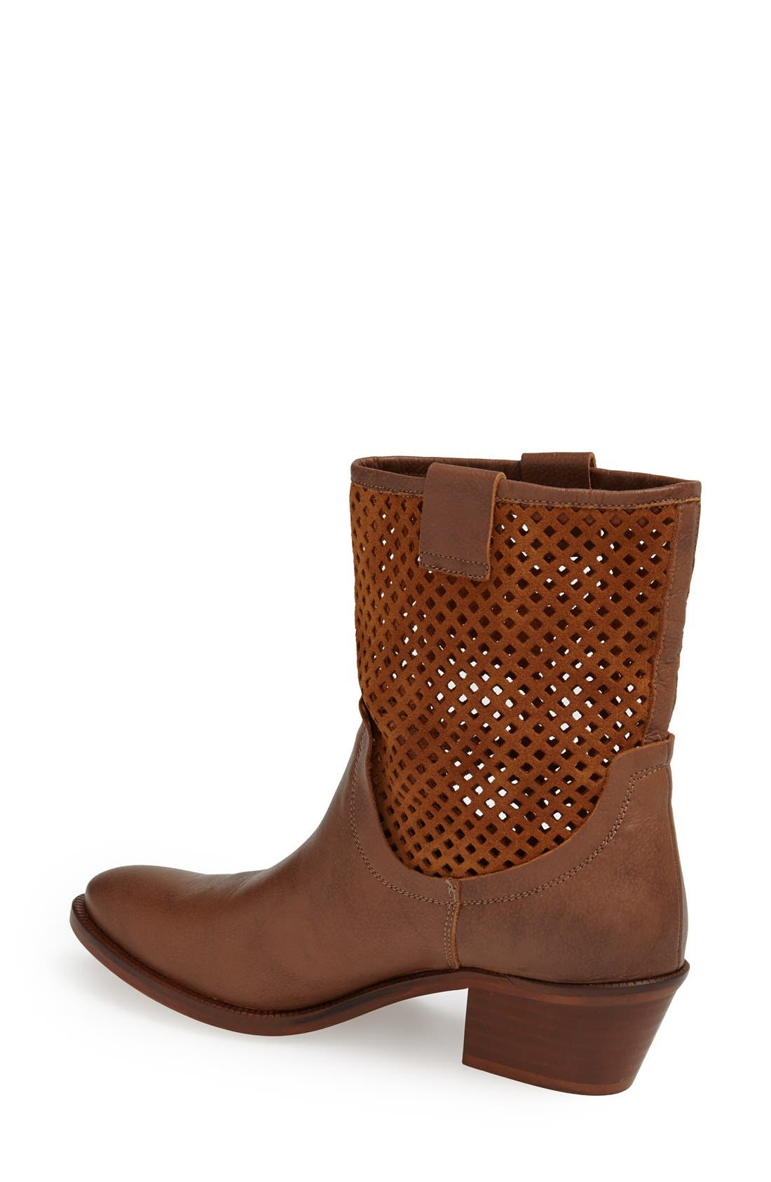 Alternate Image 2  - SIXTYSEVEN 'Laurie' Perforated Leather Short Boot (Women)